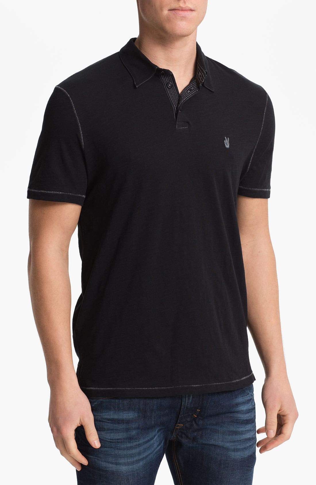 Main Image - John Varvatos Star USA Regular Fit Slubbed Polo