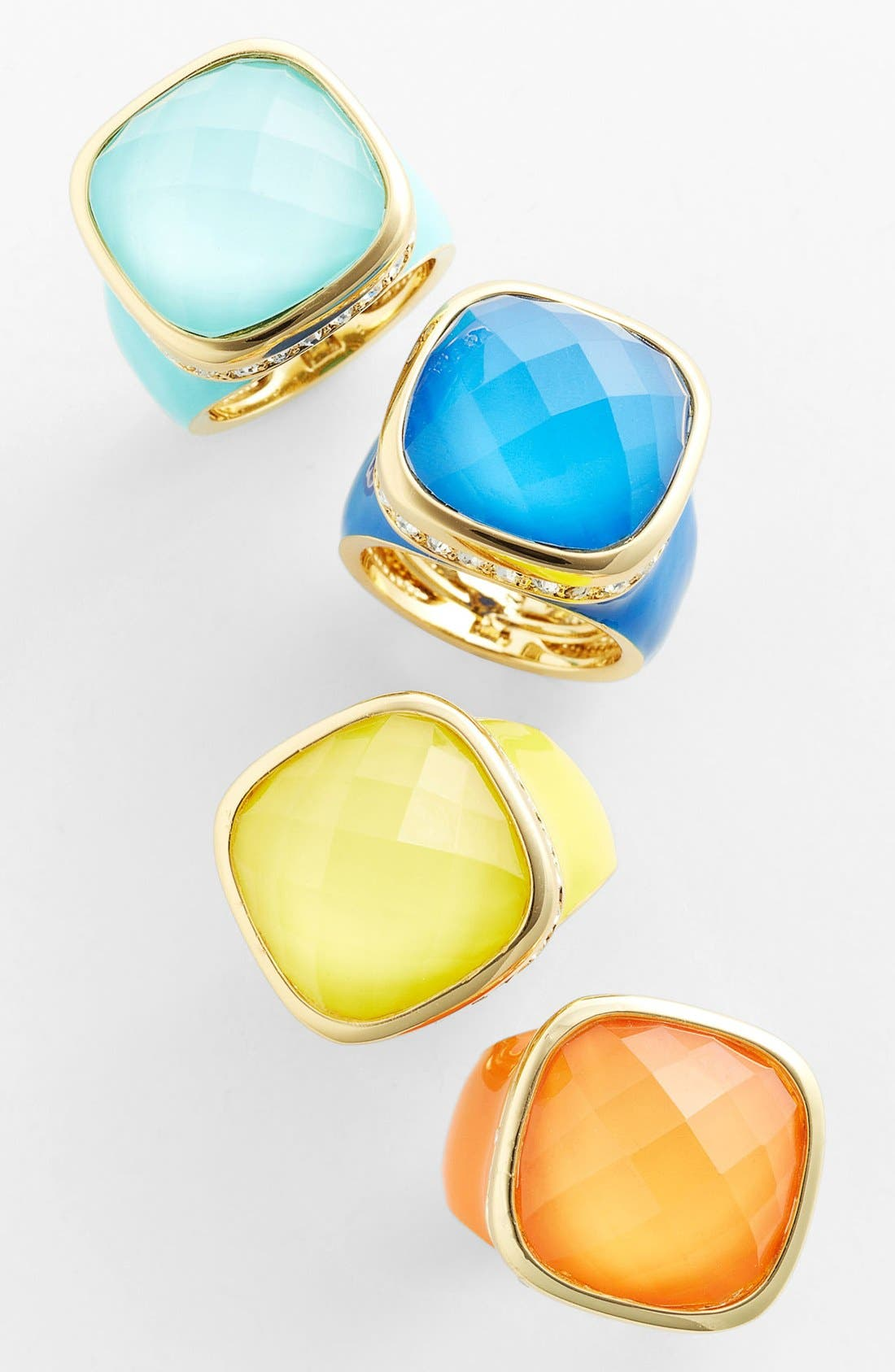 Alternate Image 2  - Ariella Collection Square Stone Ring (Nordstrom Exclusive)
