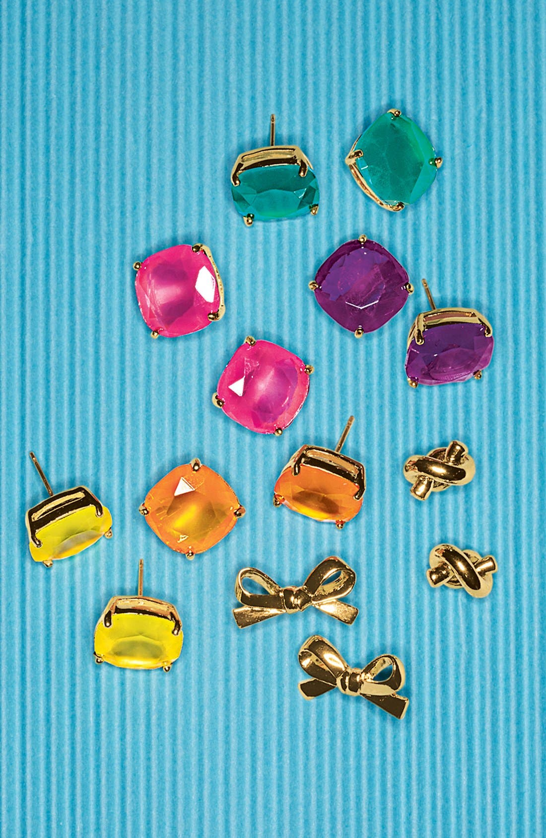 Alternate Image 2  - kate spade new york 'skinny mini' bow stud earrings