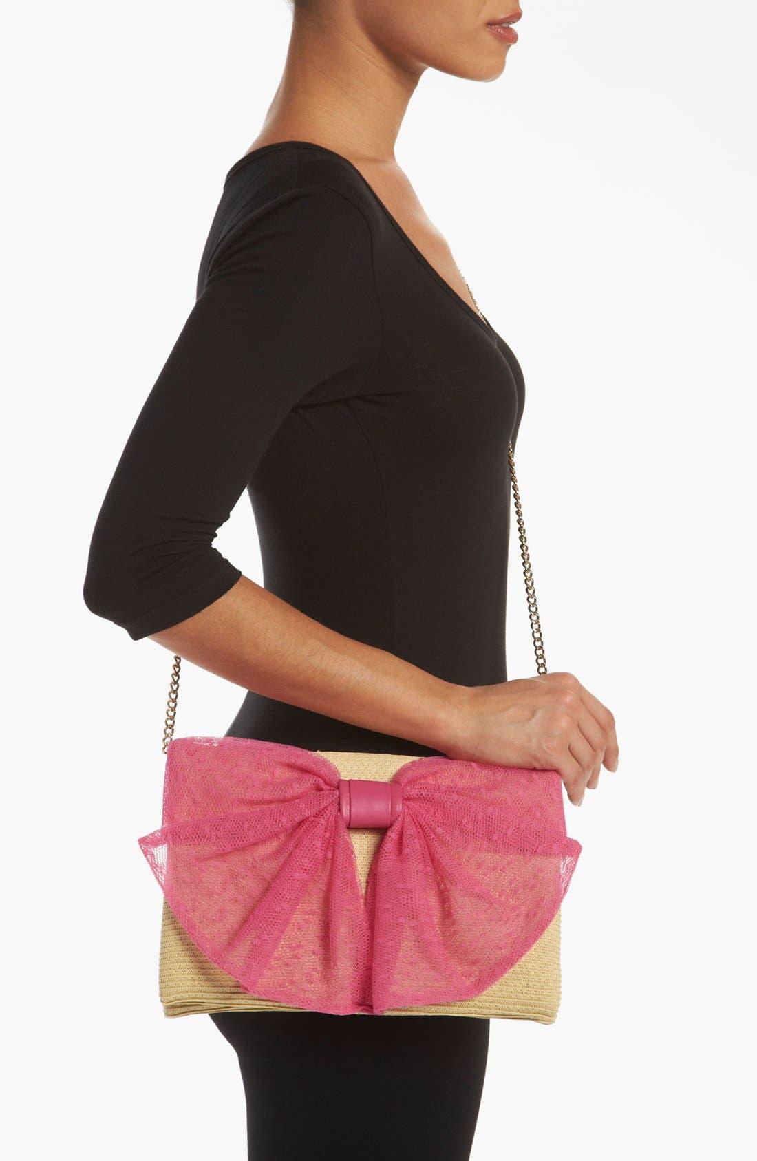 Alternate Image 2  - RED Valentino 'Bow' Straw Crossbody Bag