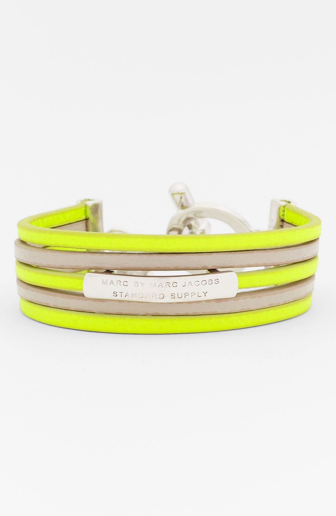 Alternate Image 1 Selected - MARC BY MARC JACOBS Leather ID Bracelet