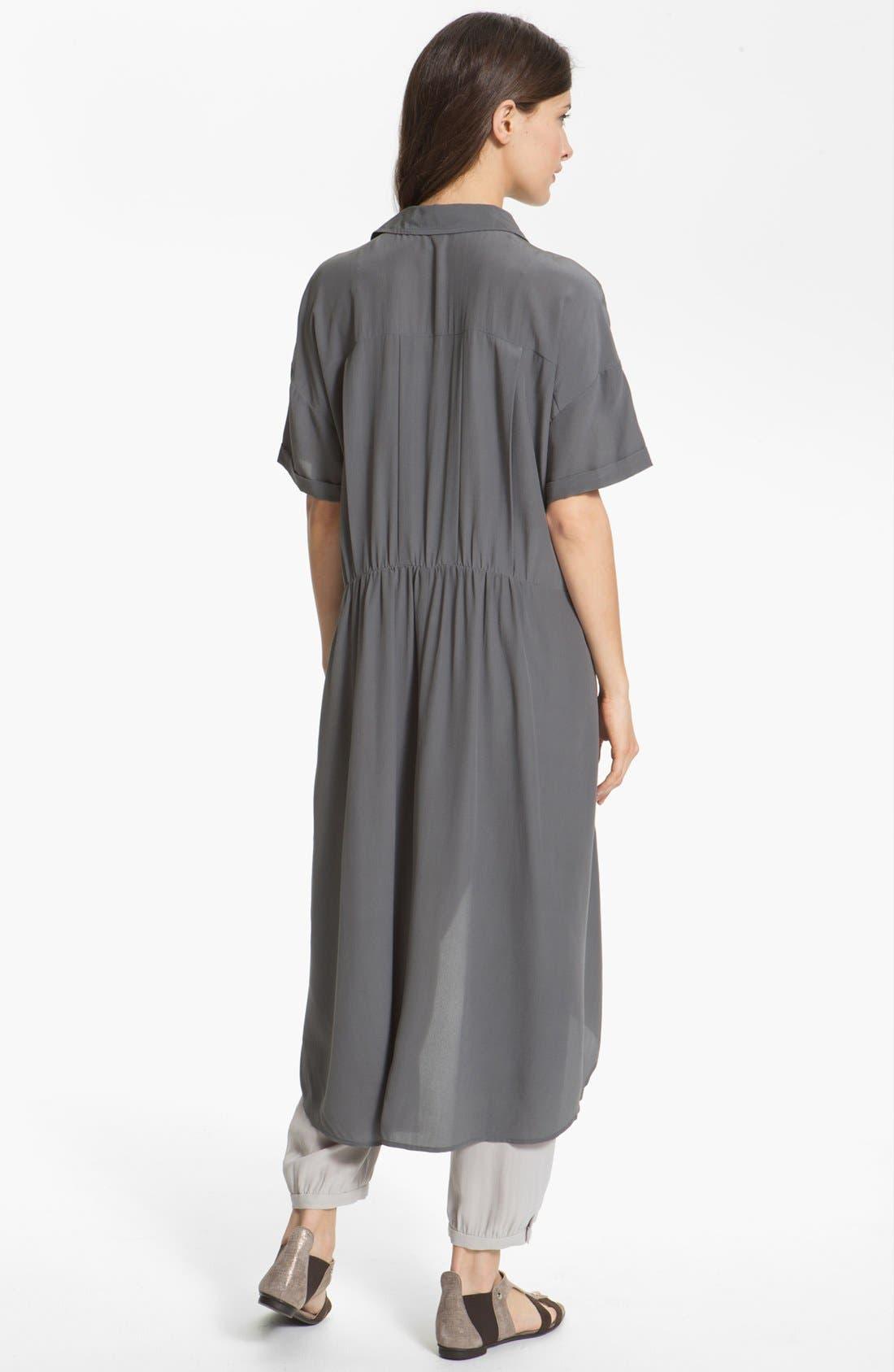 Alternate Image 2  - Eileen Fisher Silk Crêpe de Chine Shirtdress