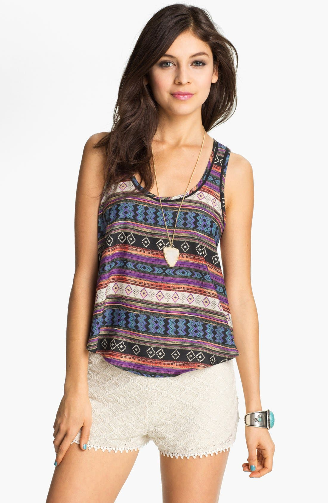 Alternate Image 1 Selected - Lush Print Tank (Juniors)