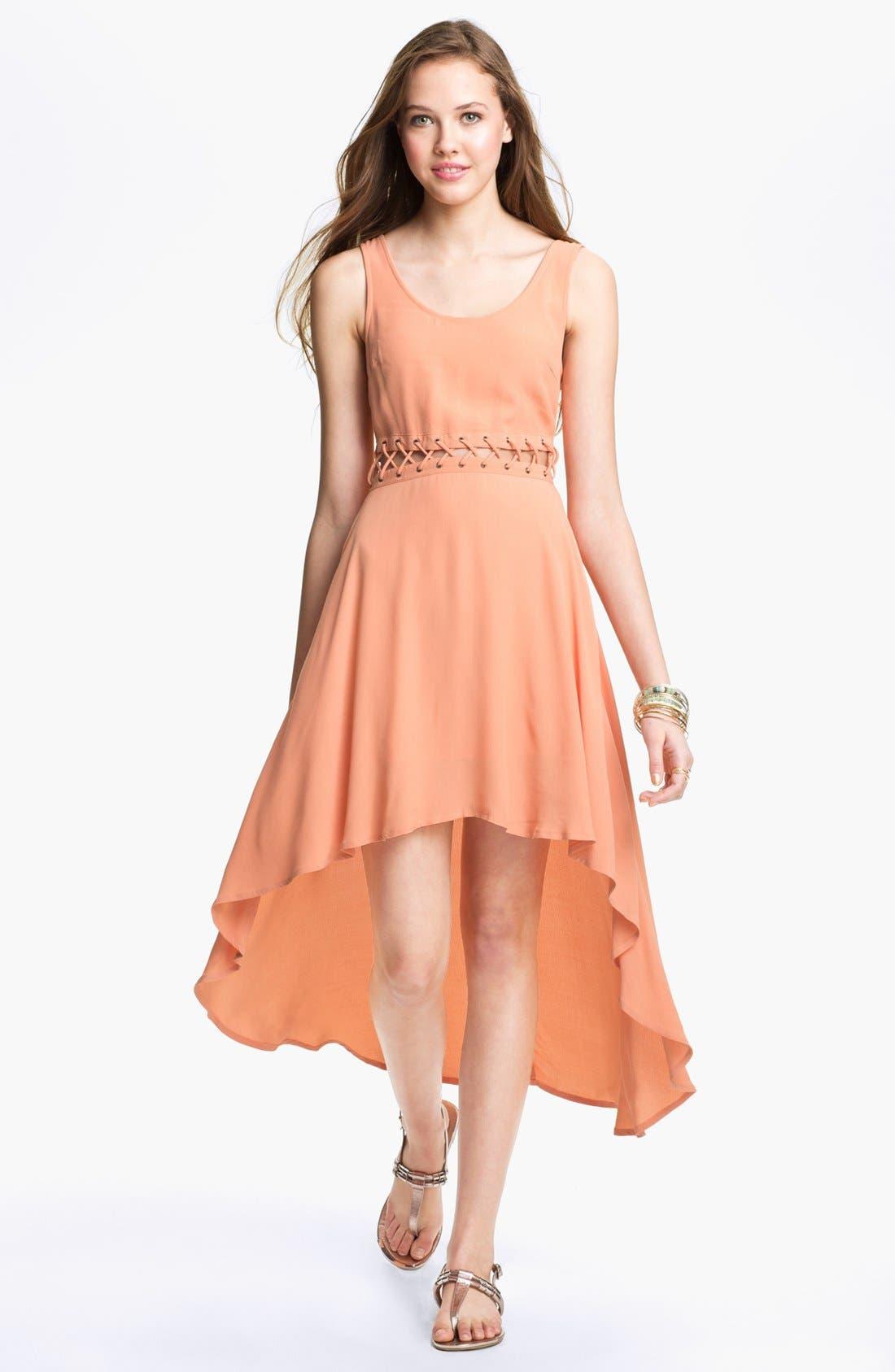 Alternate Image 1 Selected - Lush High/Low Dress (Juniors)