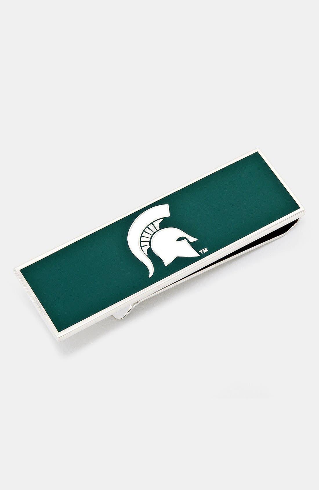 Main Image - Cufflinks, Inc. 'Michigan State University Spartans' Money Clip