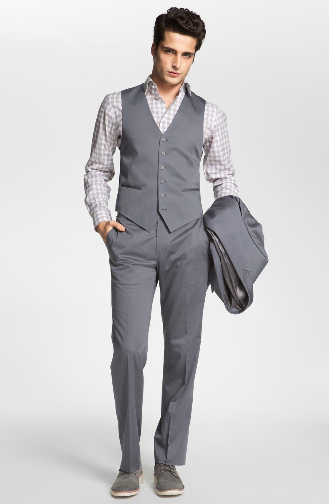 Alternate Image 4  - John Varvatos Star USA 'City' Trim Fit Cotton Blend Sportcoat