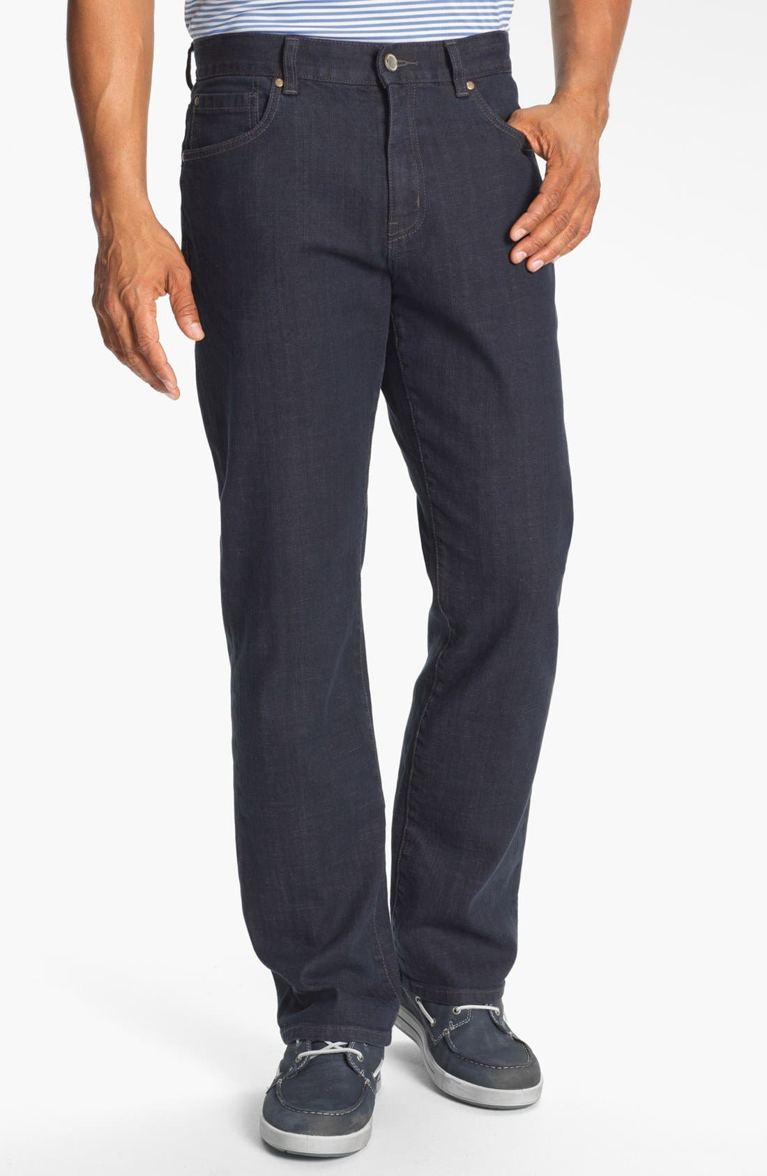 Main Image - Cutter & Buck 'Madison Park' Relaxed Fit Jeans (Carbon)