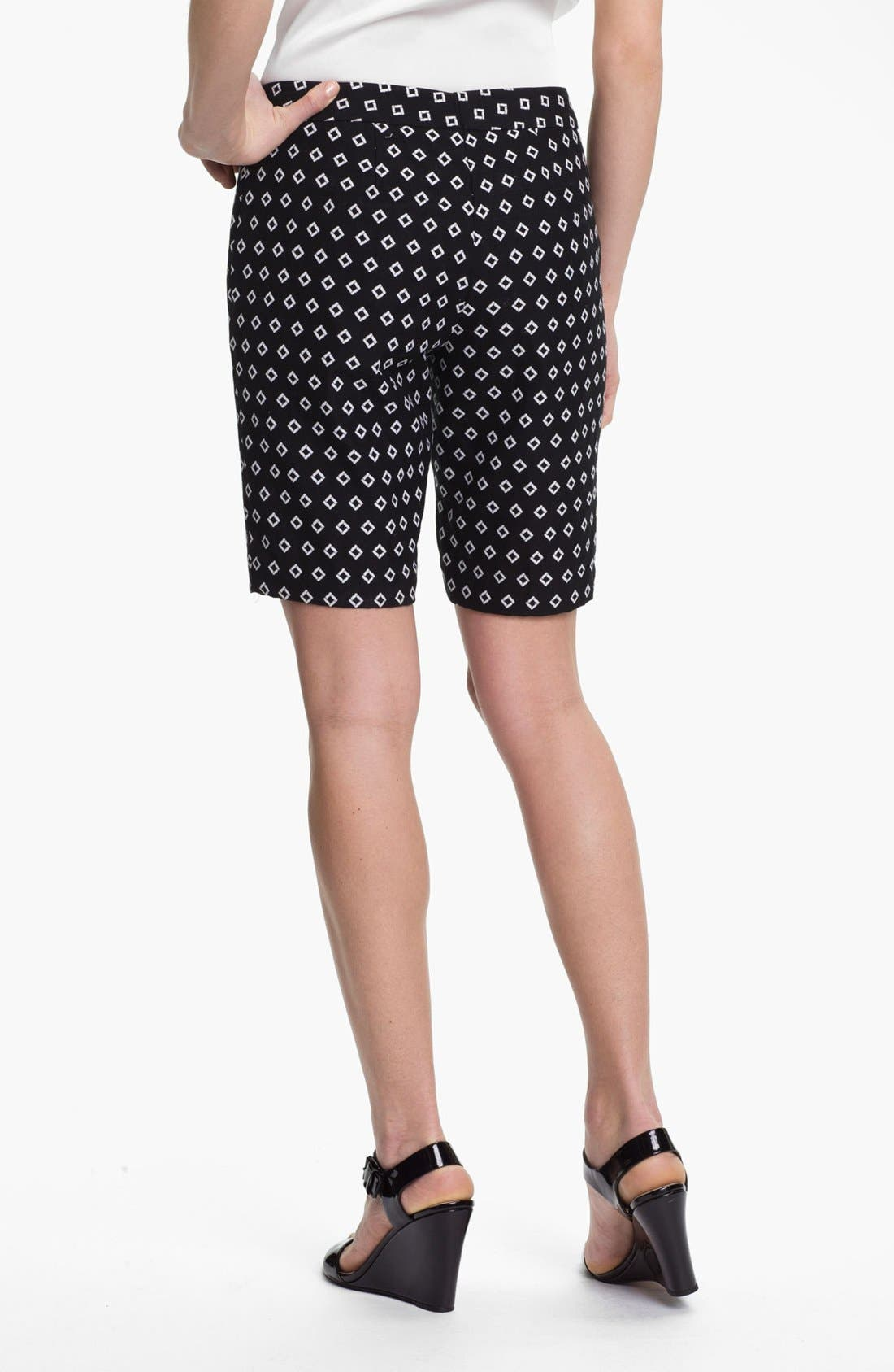 Diamond Jacquard Bermuda Shorts,                             Alternate thumbnail 2, color,                             Rich Black
