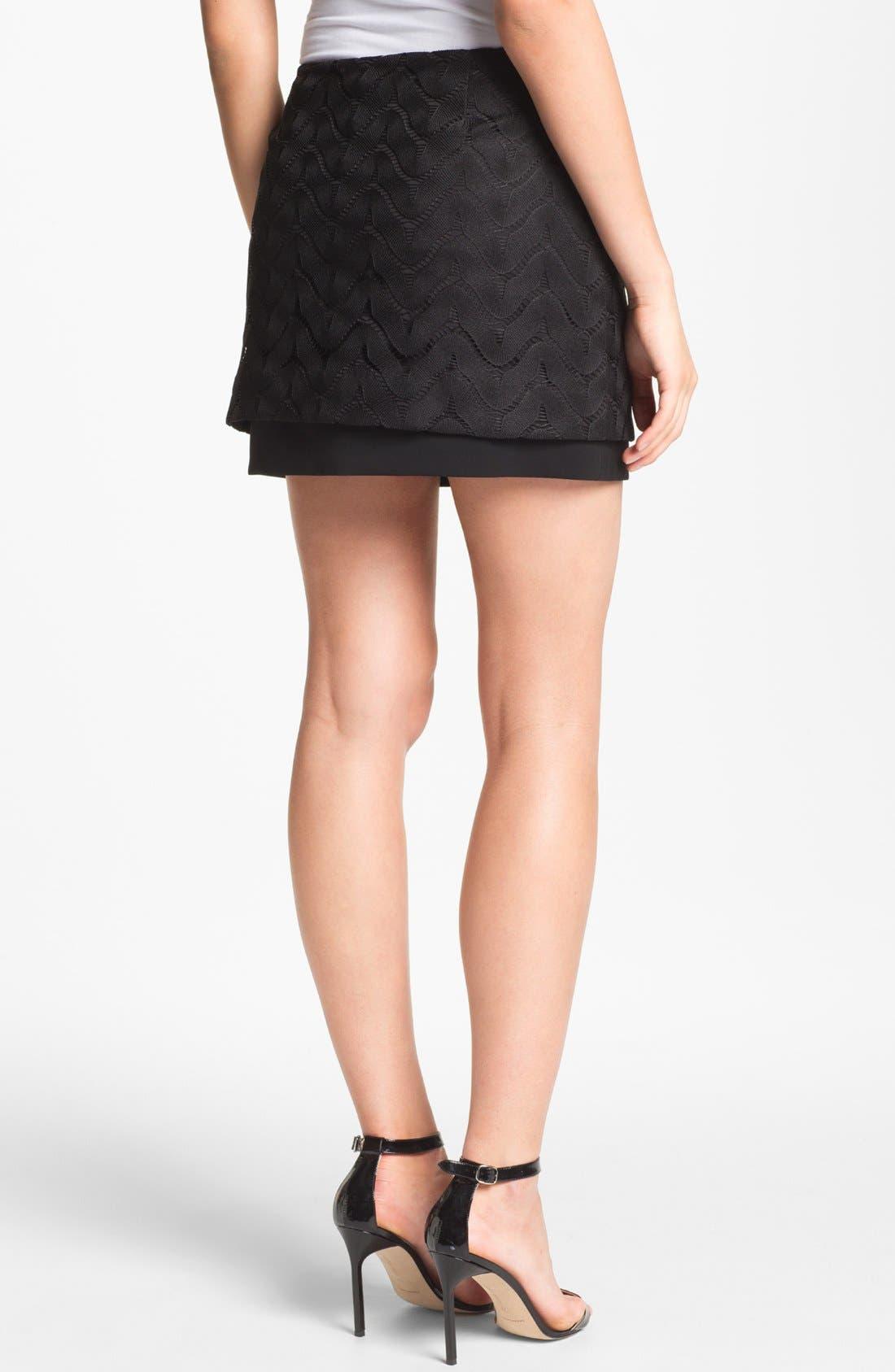 Alternate Image 2  - Diane von Furstenberg 'Elley' Lace Miniskirt