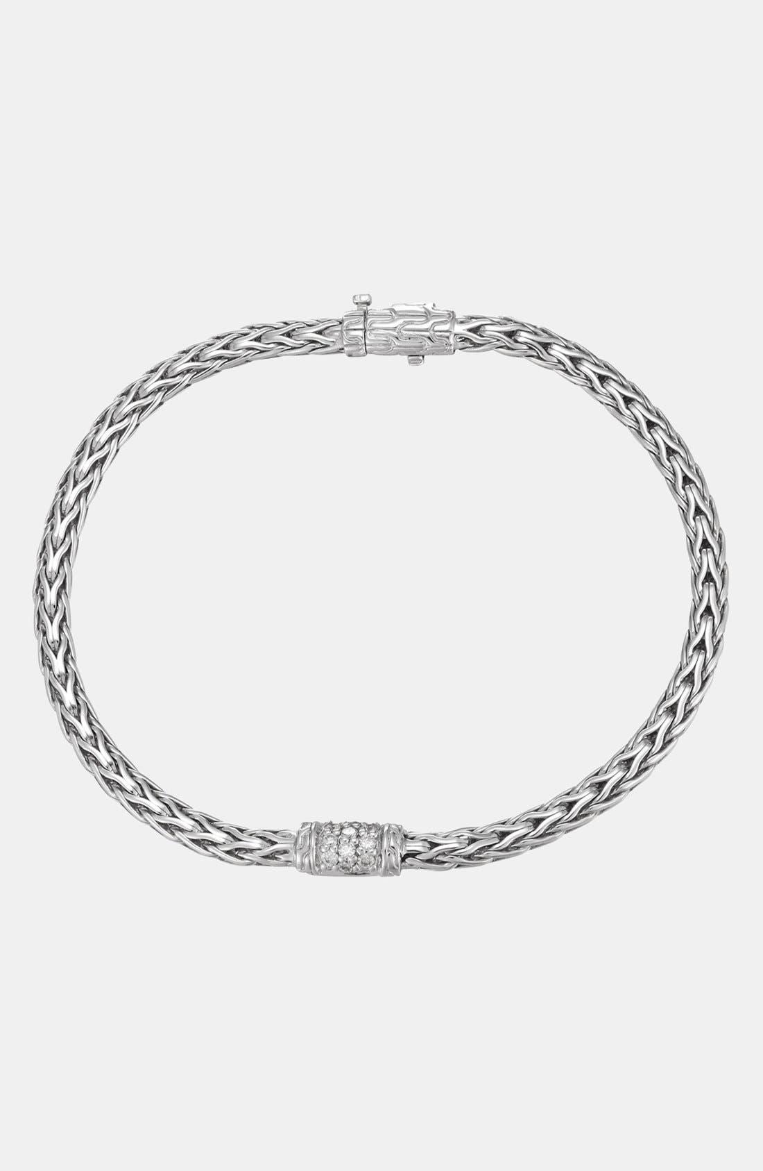 Alternate Image 1 Selected - John Hardy 'Classic Chain' Small Pavé Diamond Bracelet