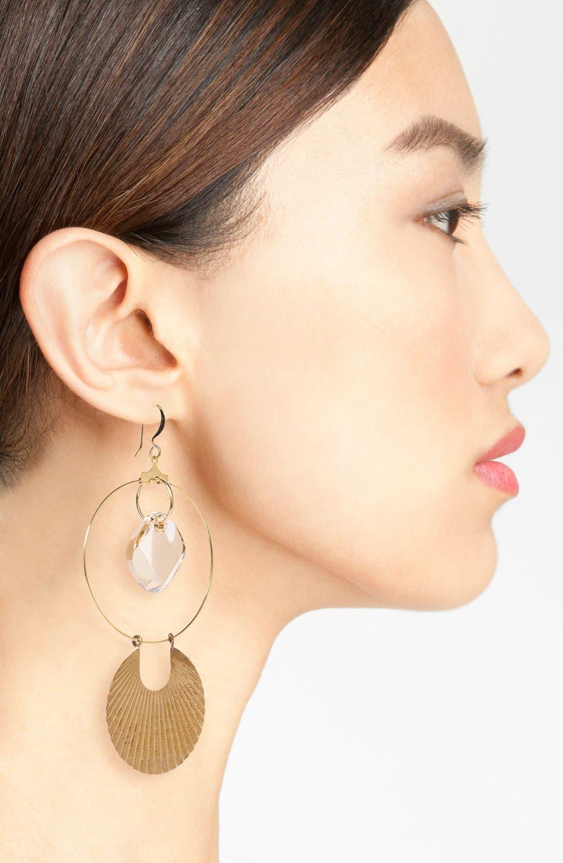 Alternate Image 2  - Verdier Jewelry Crystal Drop Earrings