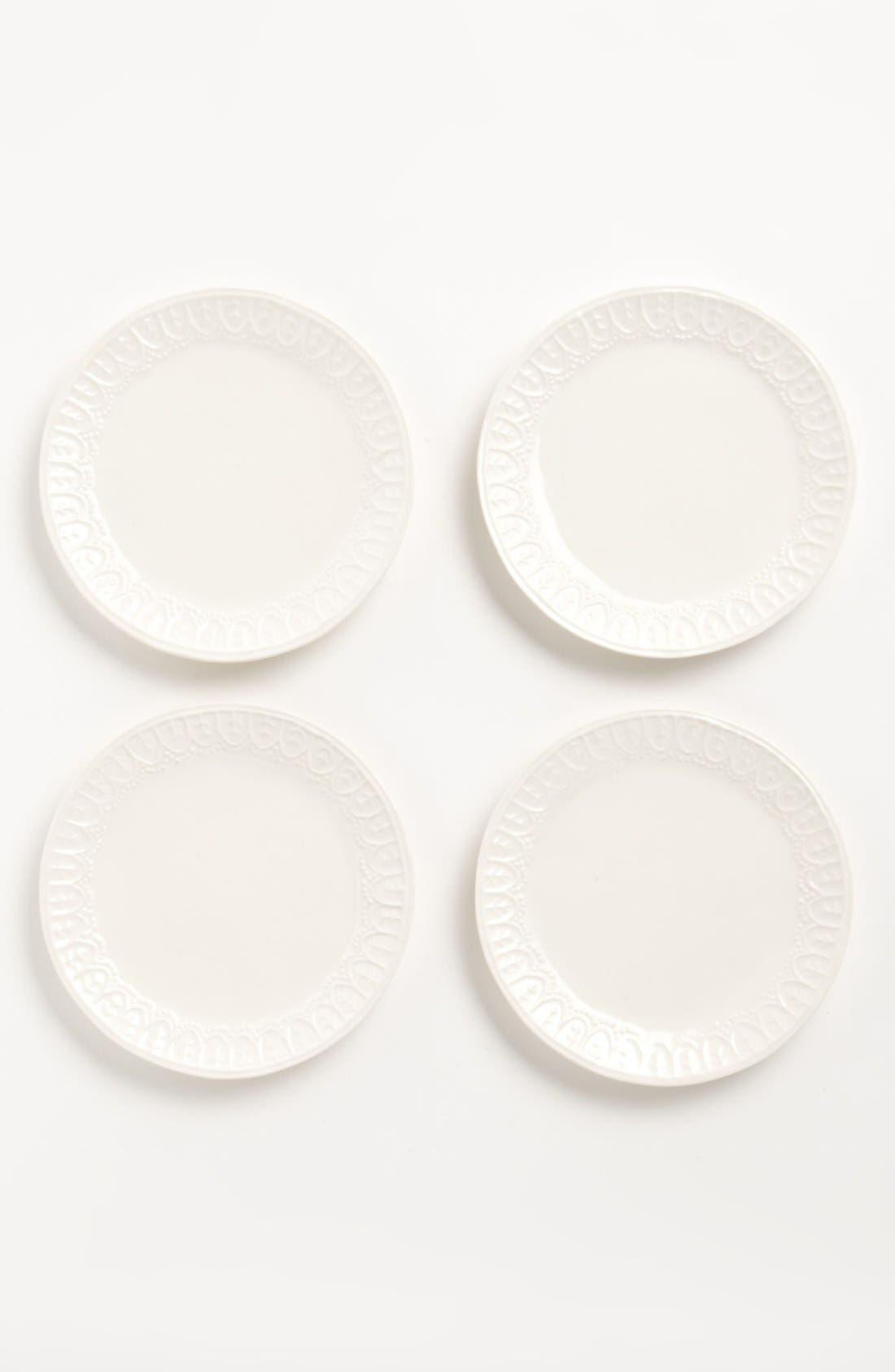 Main Image - Magenta 'Bohemian Lace' Salad Plates (Set of 4)