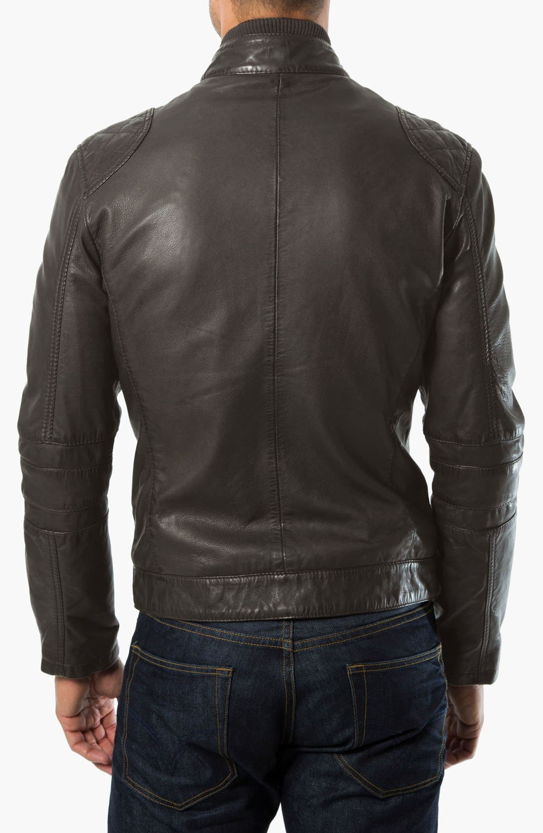 Alternate Image 2  - 7 Diamonds 'Siata' Leather Moto Jacket