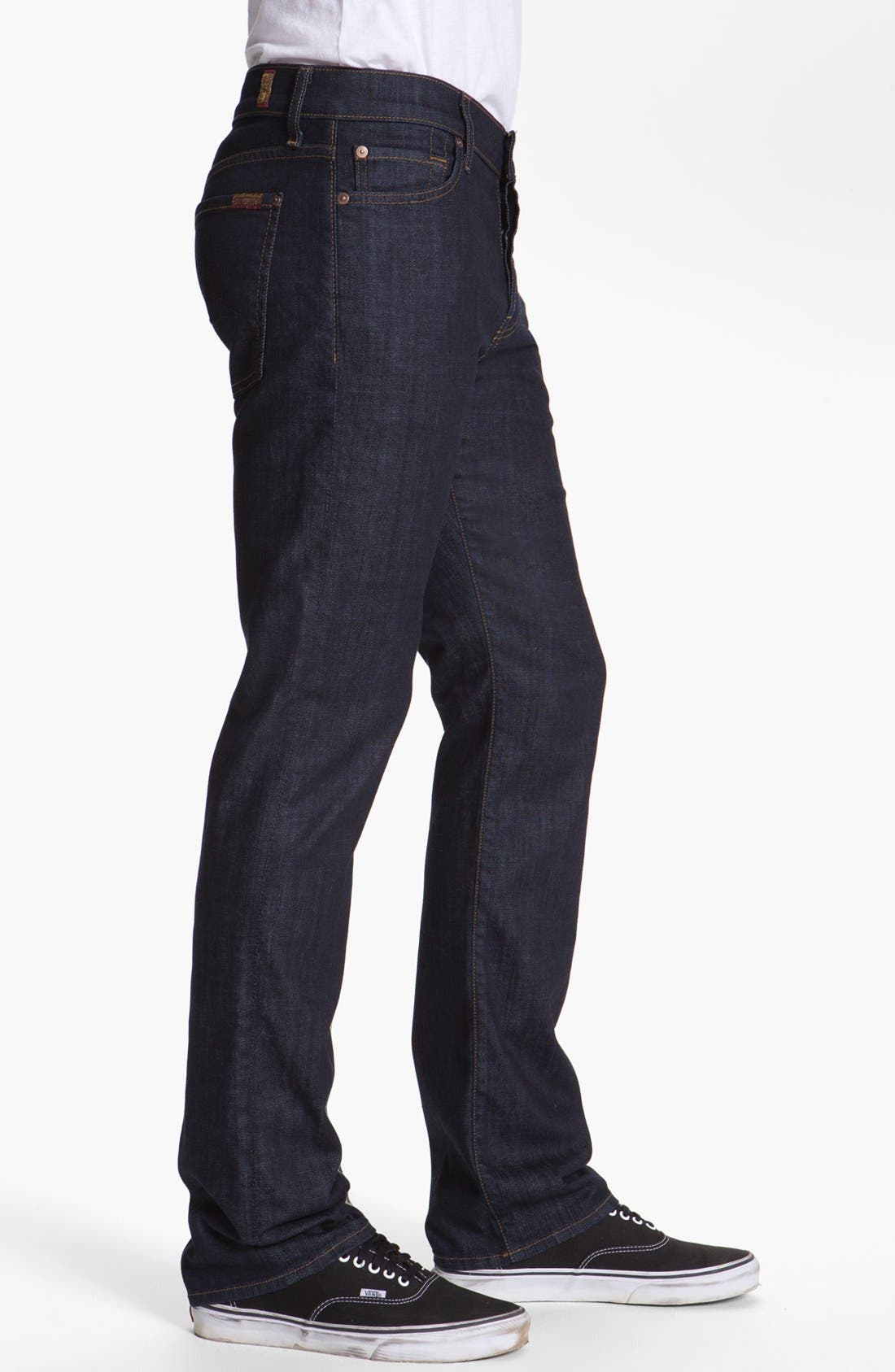 Alternate Image 3  - 7 For All Mankind® 'Standard' Straight Leg Jeans (Dark and Clean)