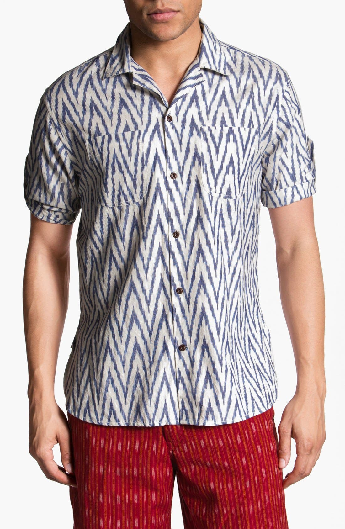 Alternate Image 1 Selected - Burkman Bros Short Sleeve Campshirt