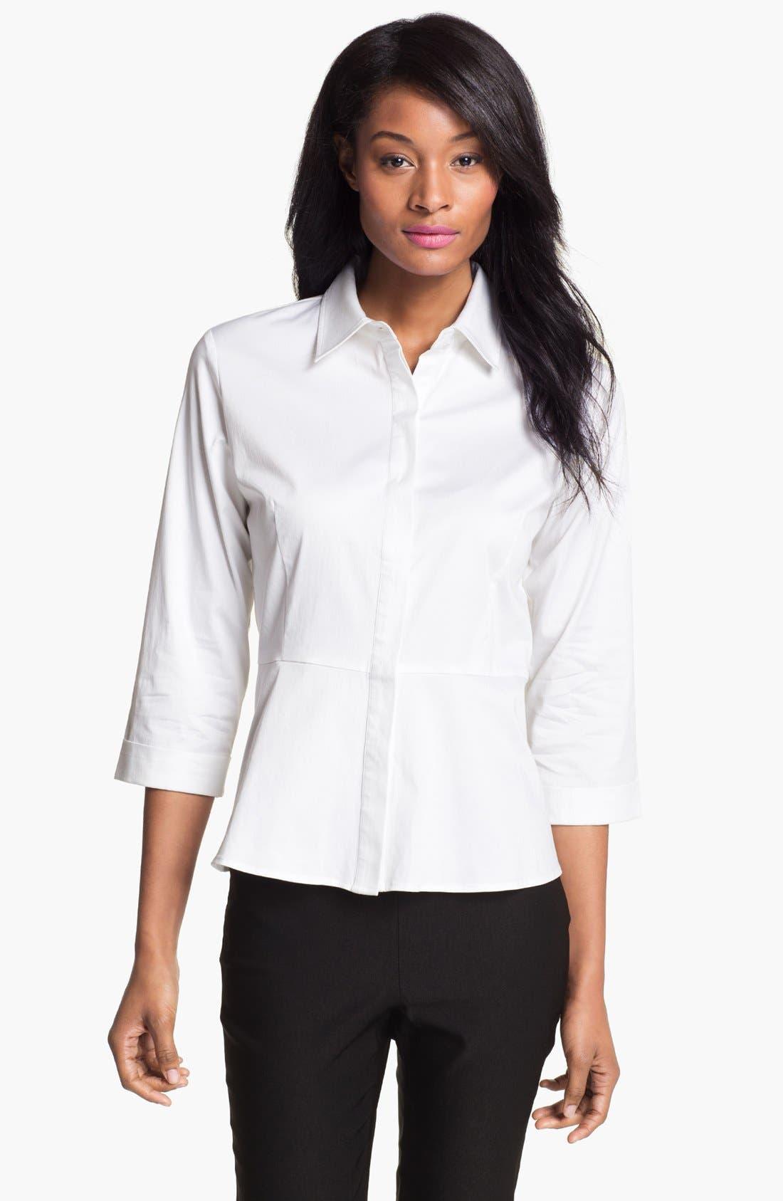 Alternate Image 1 Selected - Pure Amici Peplum Shirt