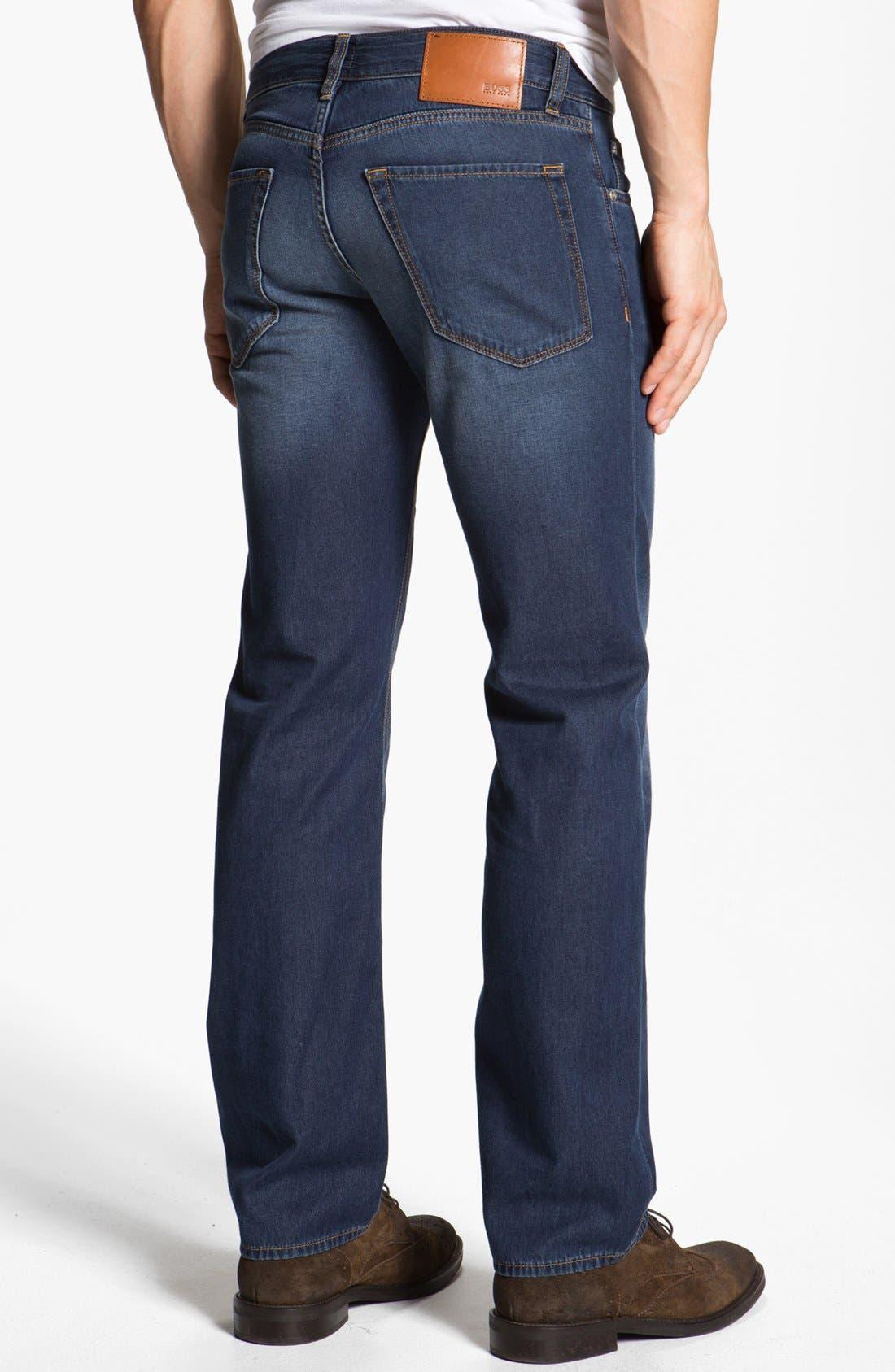 Alternate Image 2  - BOSS HUGO BOSS 'Maine' Straight Leg Jeans (Medium Rinse)