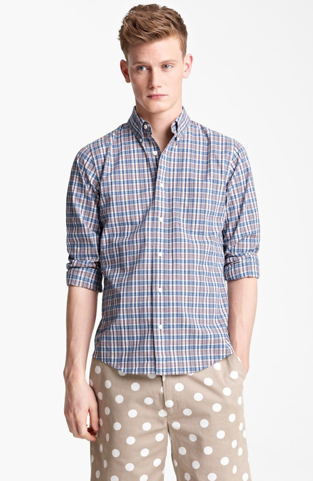 Alternate Image 1 Selected - Jack Spade 'Serge' Plaid Sport Shirt