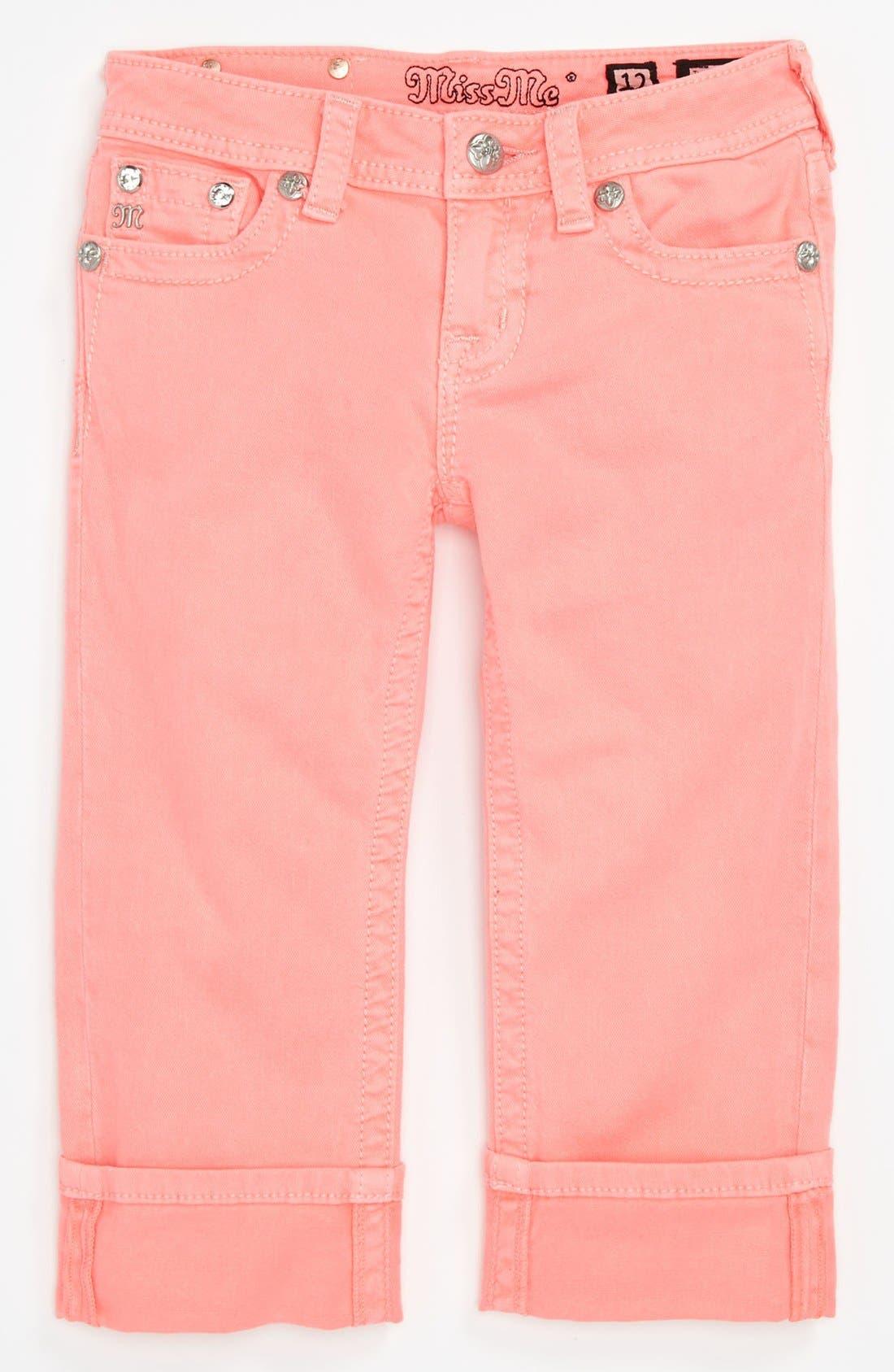 Alternate Image 1 Selected - Miss Me Capri Pants (Big Girls)