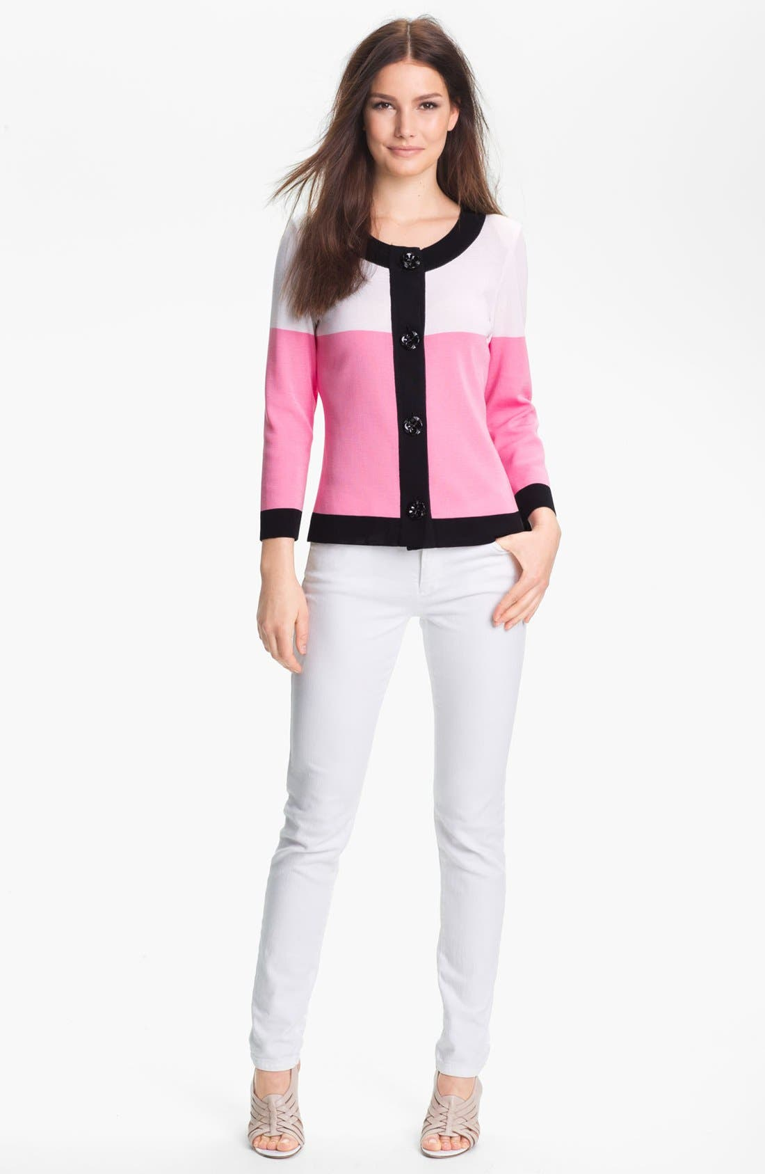 Alternate Image 1 Selected - Exclusively Misook 'Ana' Cardigan (Petite) (Online Exclusive)