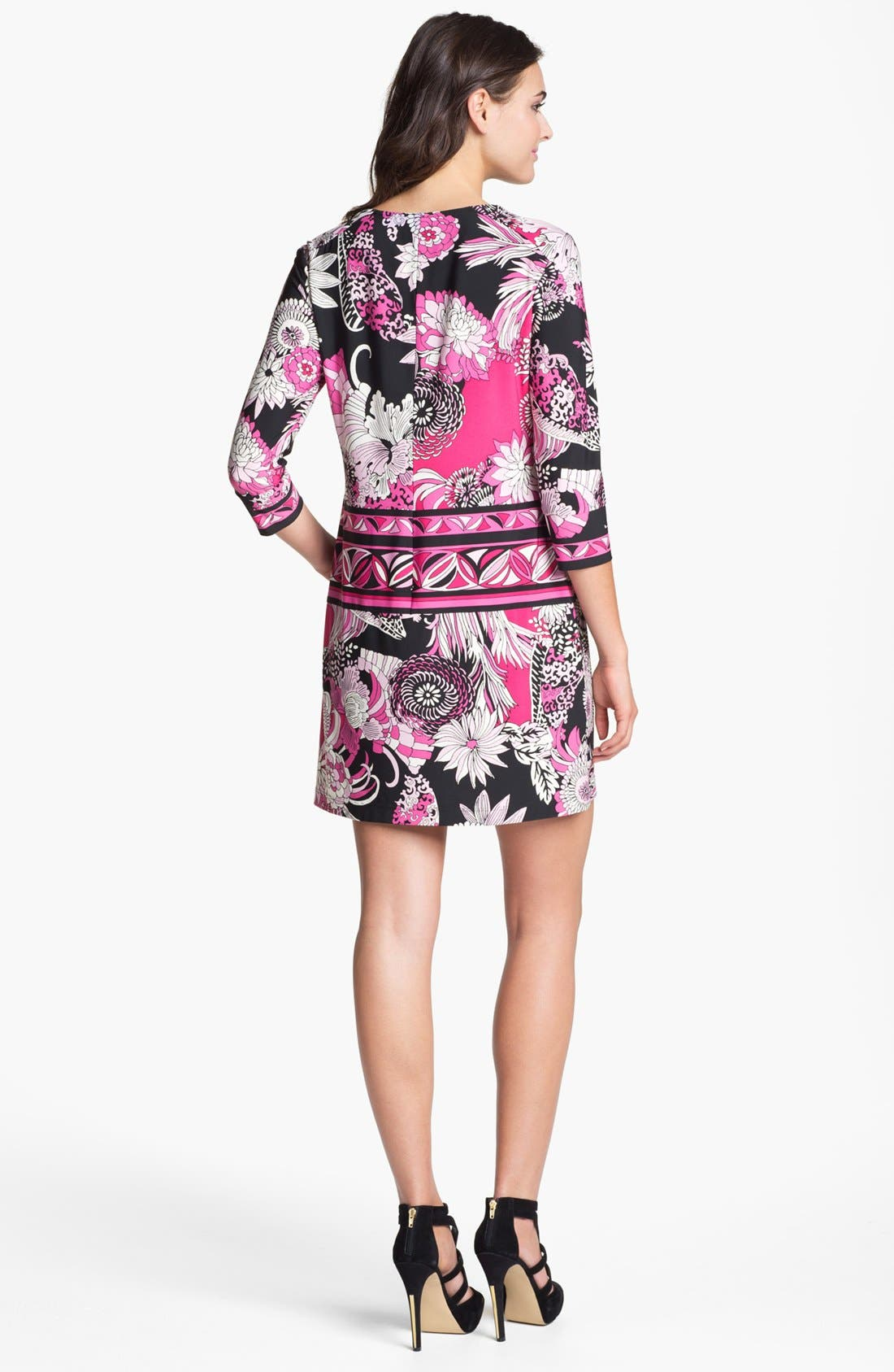 Alternate Image 2  - Donna Morgan 'Julie' Print Matte Jersey Shift Dress