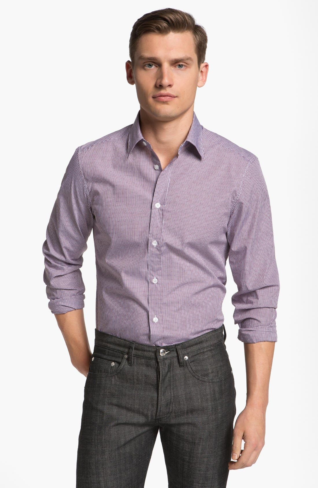 Alternate Image 1 Selected - Z Zegna Slim Fit Sport Shirt