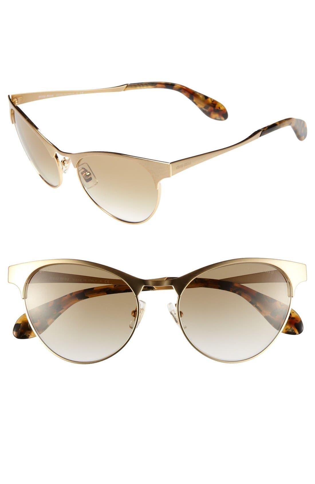 Alternate Image 1 Selected - Miu Miu Cat's Eye Sunglasses
