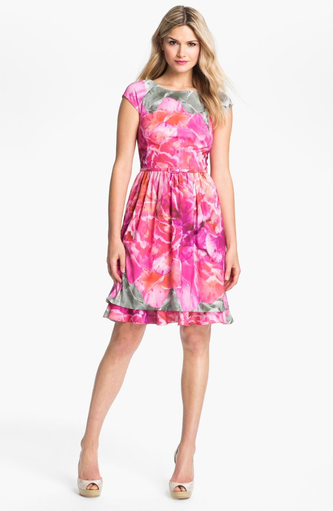 Main Image - Suzi Chin for Maggy Boutique Print Fit & Flare Dress