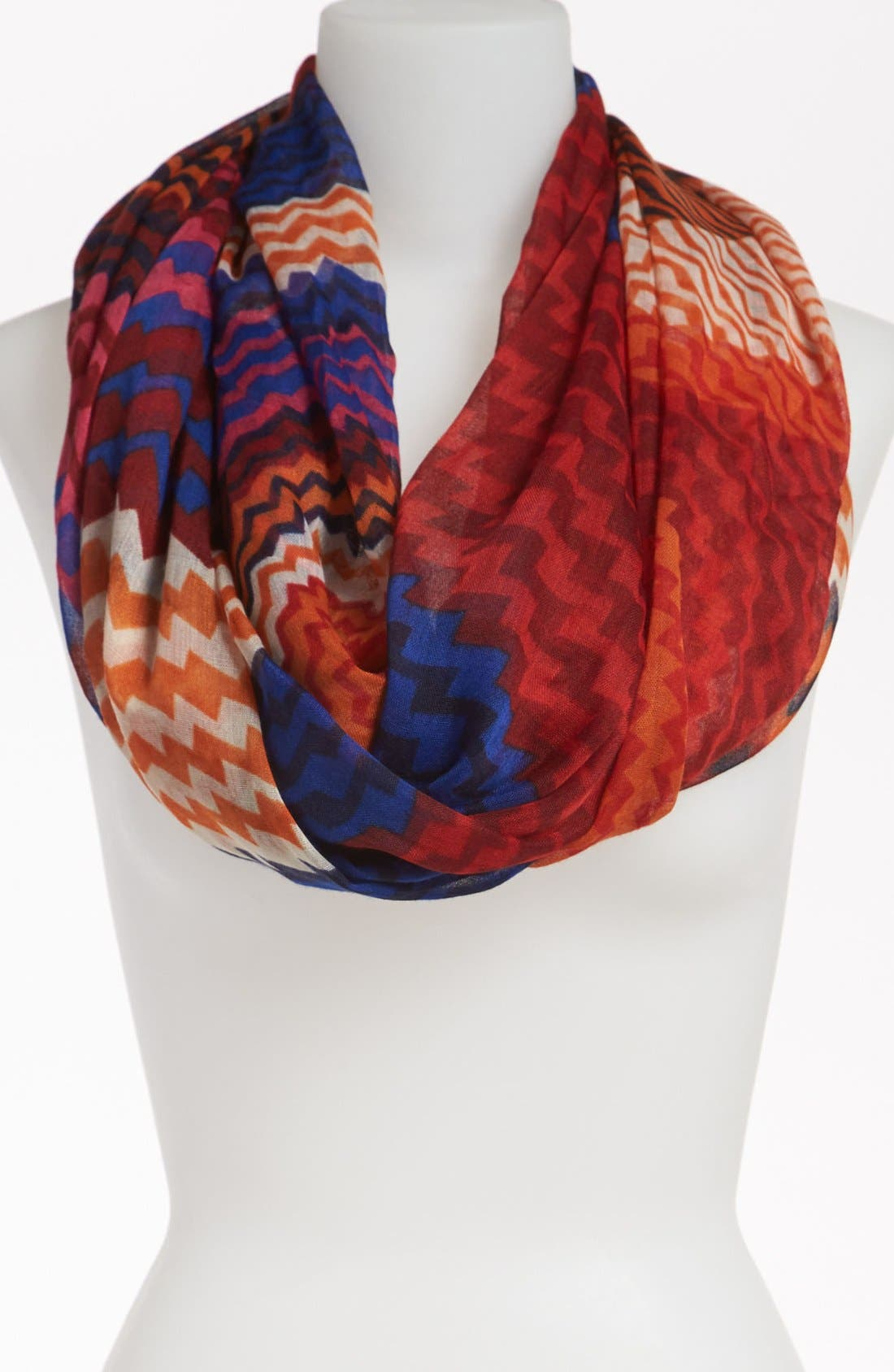 Alternate Image 1 Selected - David & Young Geometric Print Infinity Scarf