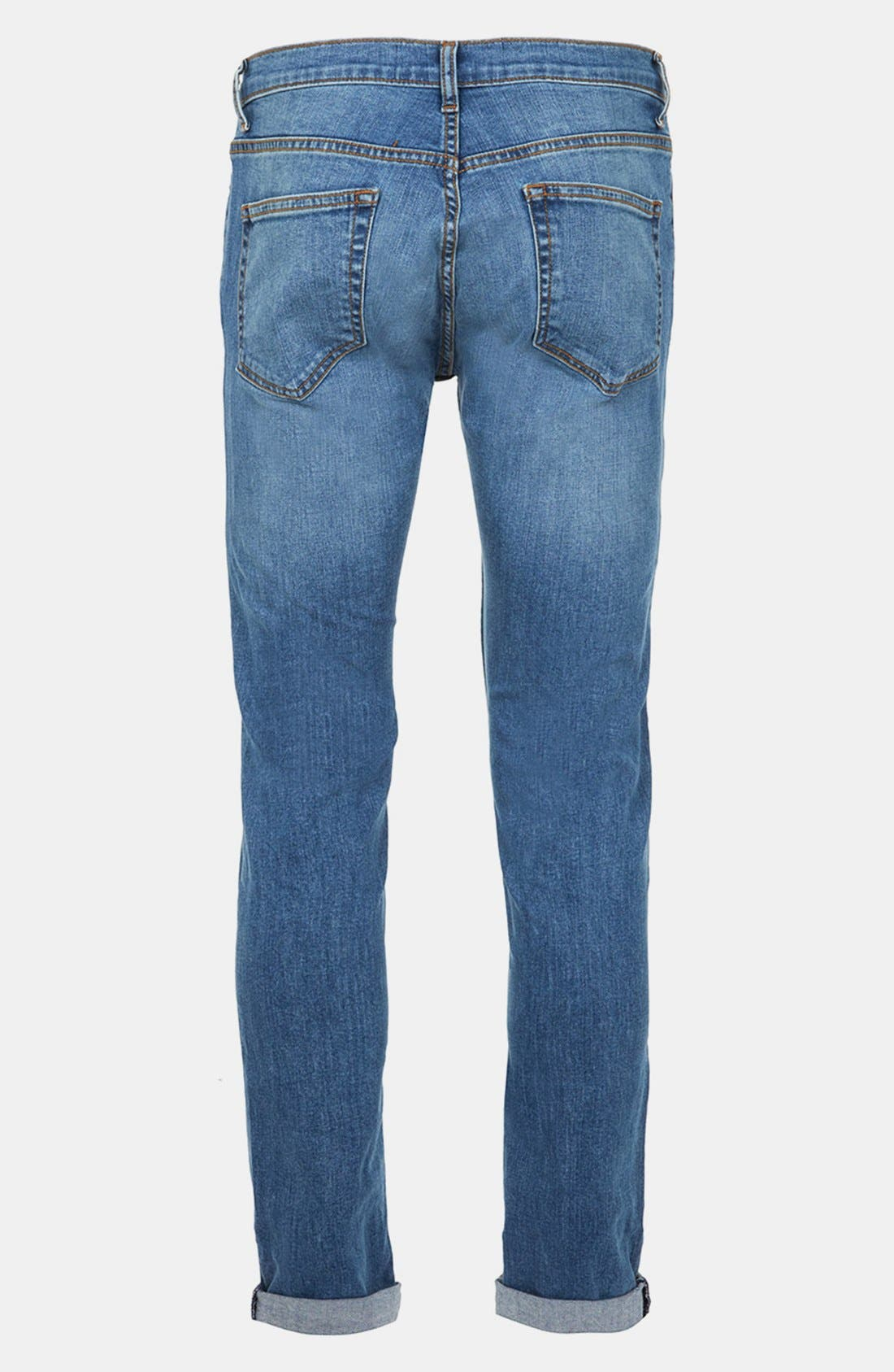 Alternate Image 2  - Topman Skinny Fit Stretch Jeans