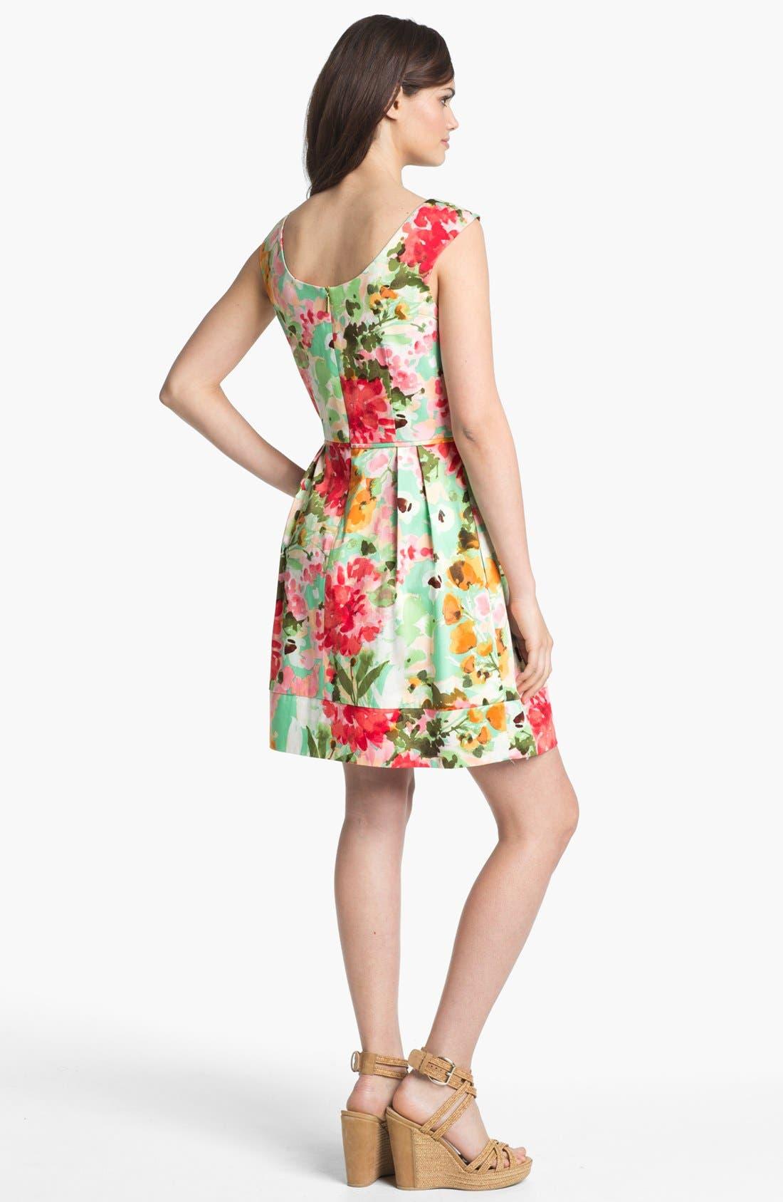 Alternate Image 2  - Donna Ricco Floral Print Fit & Flare Dress