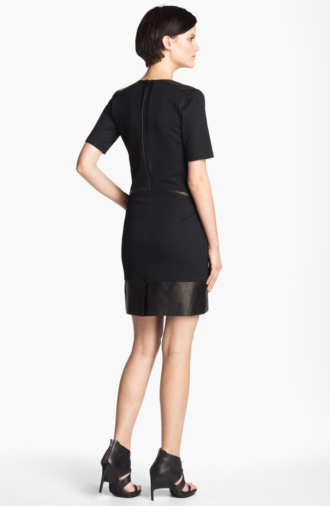 Alternate Image 2  - Helmut Lang 'Motion' Leather Trim Dress