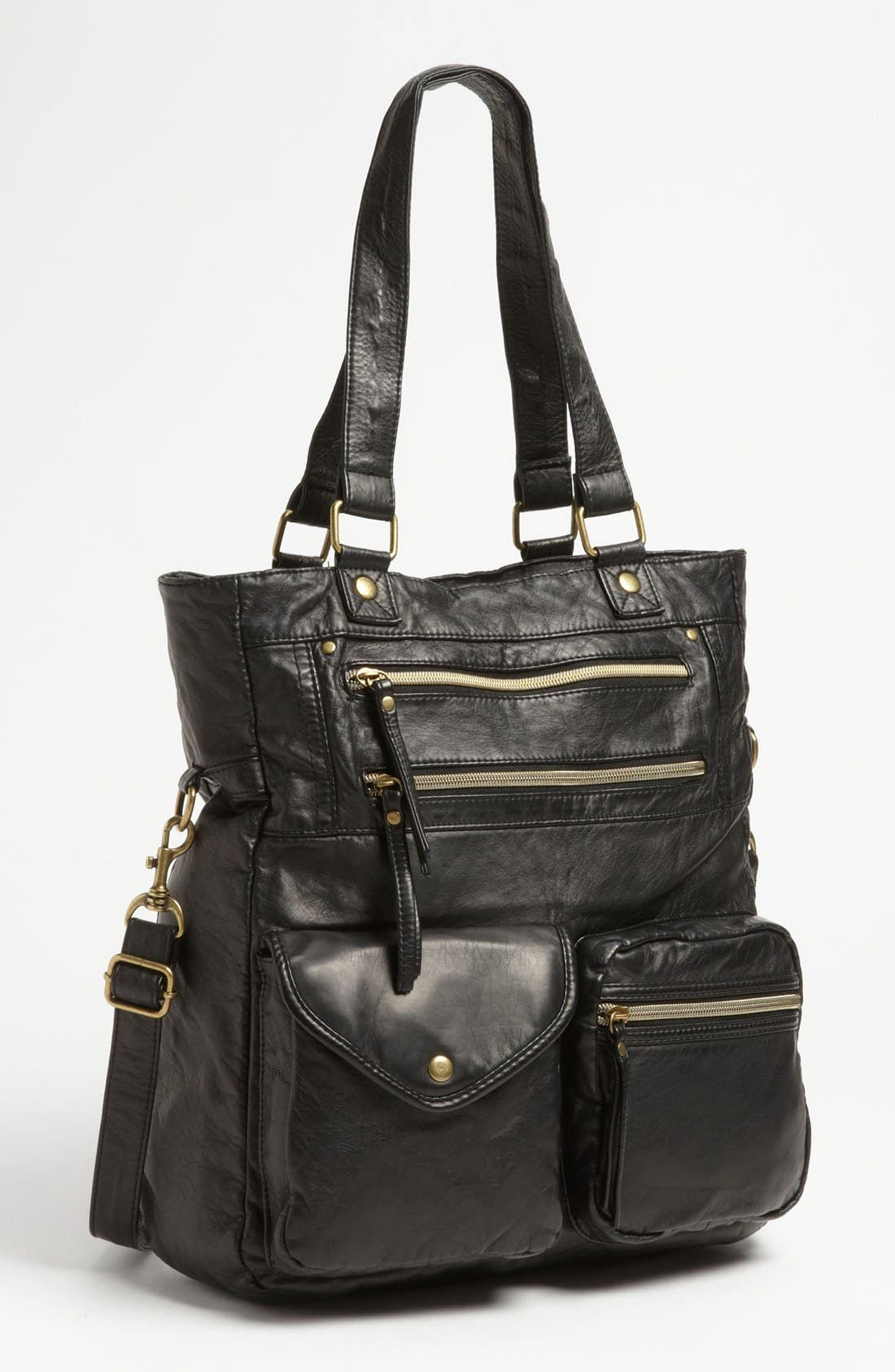 Main Image - Lulu 'North South' Faux Leather Tote, Large (Online Only)