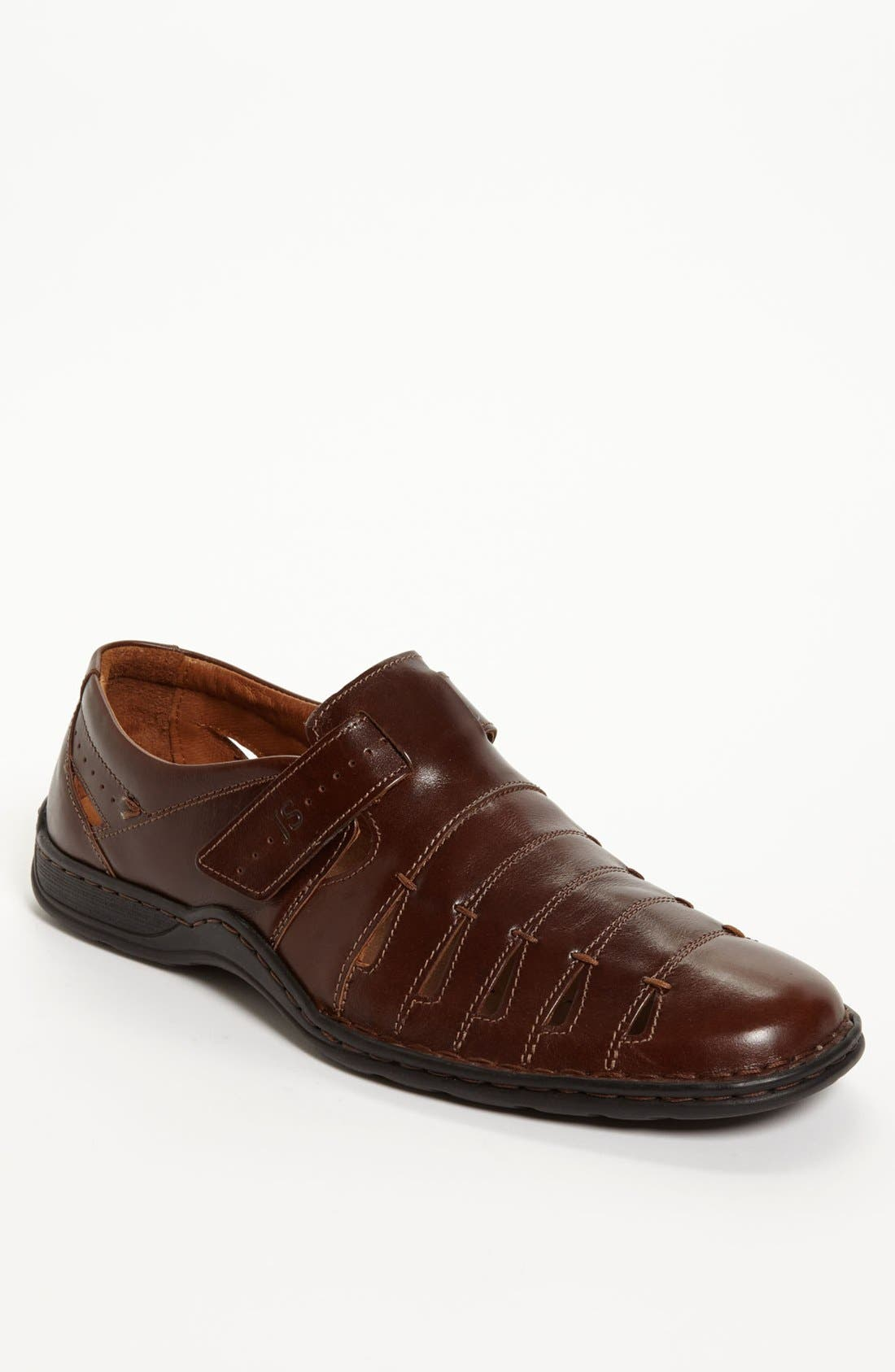 'Lionel 06' Sandal,                         Main,                         color, Brown/ Brown Leather