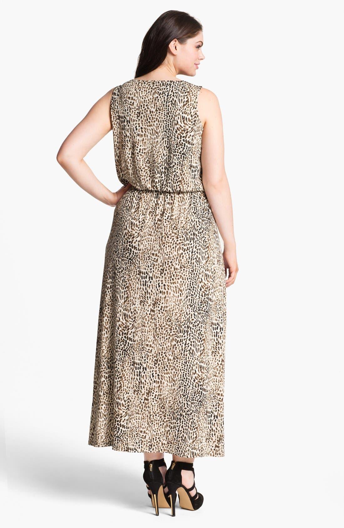 Alternate Image 2  - Vince Camuto 'Rio' Cheetah Print Maxi Dress (Plus) (Online Only)