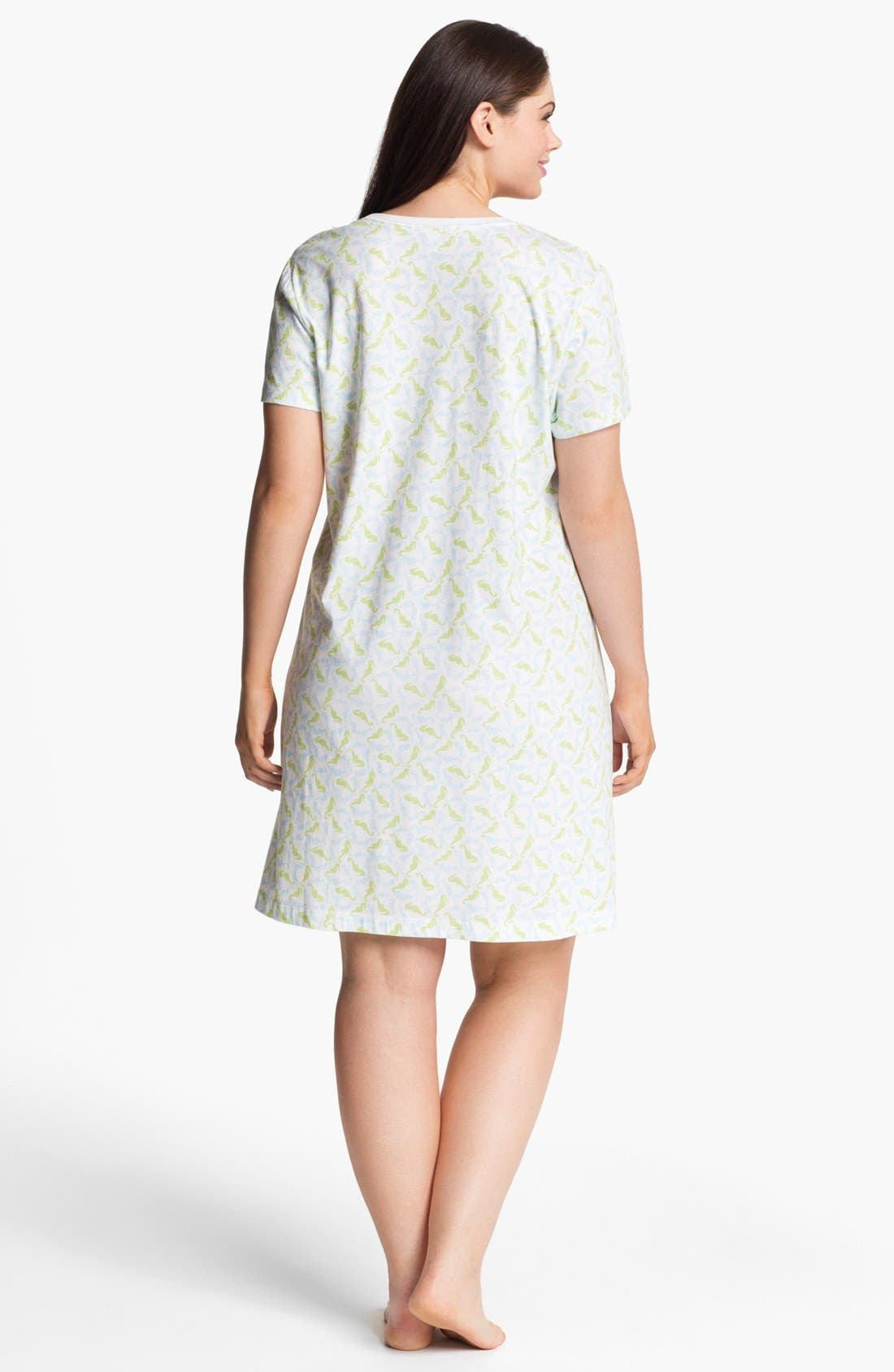 Alternate Image 2  - Carole Hochman Designs Pattern Knit Sleep Shirt (Plus Size)