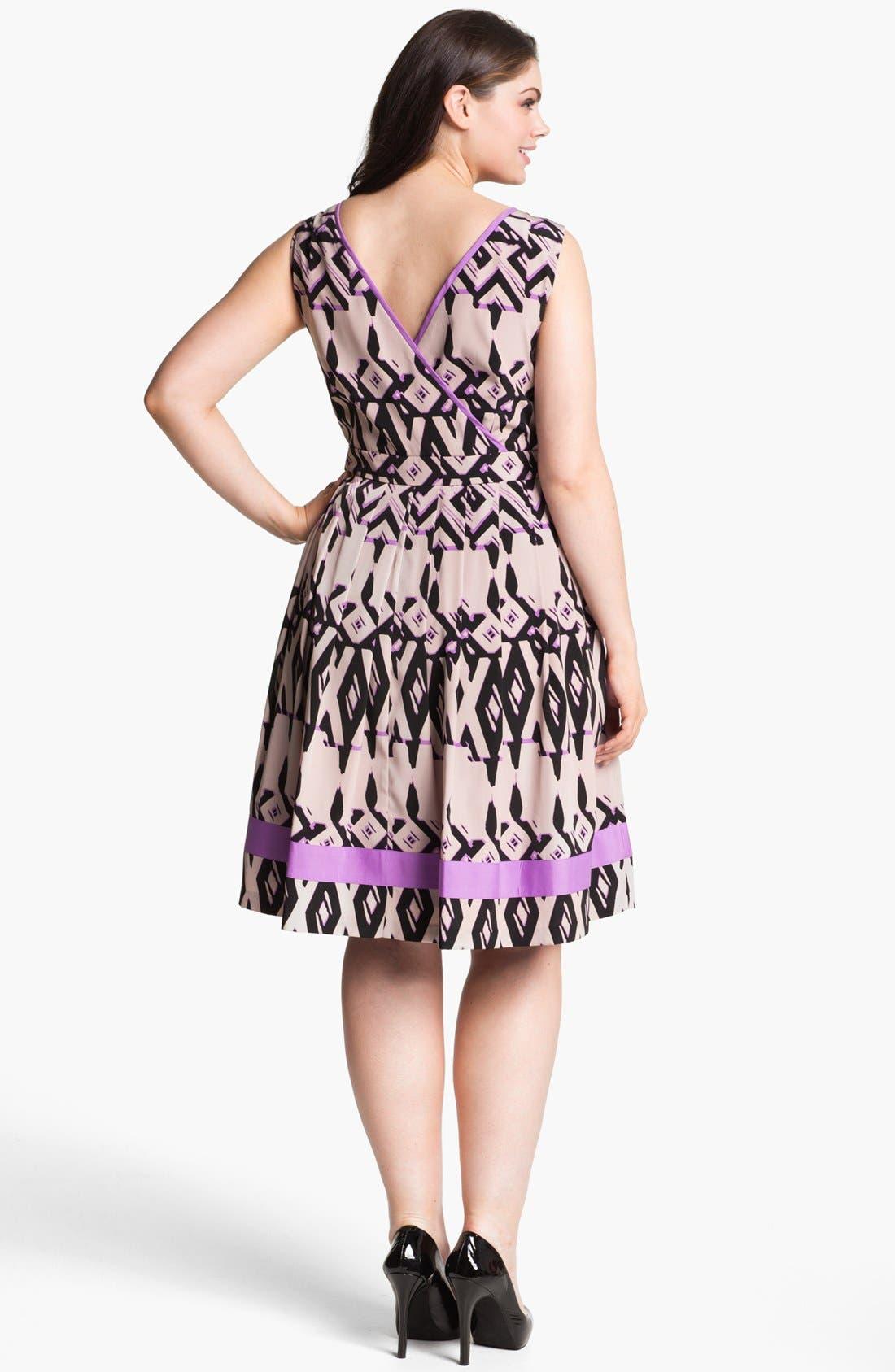 Alternate Image 2  - Jessica Simpson Fit & Flare Dress (Plus Size)