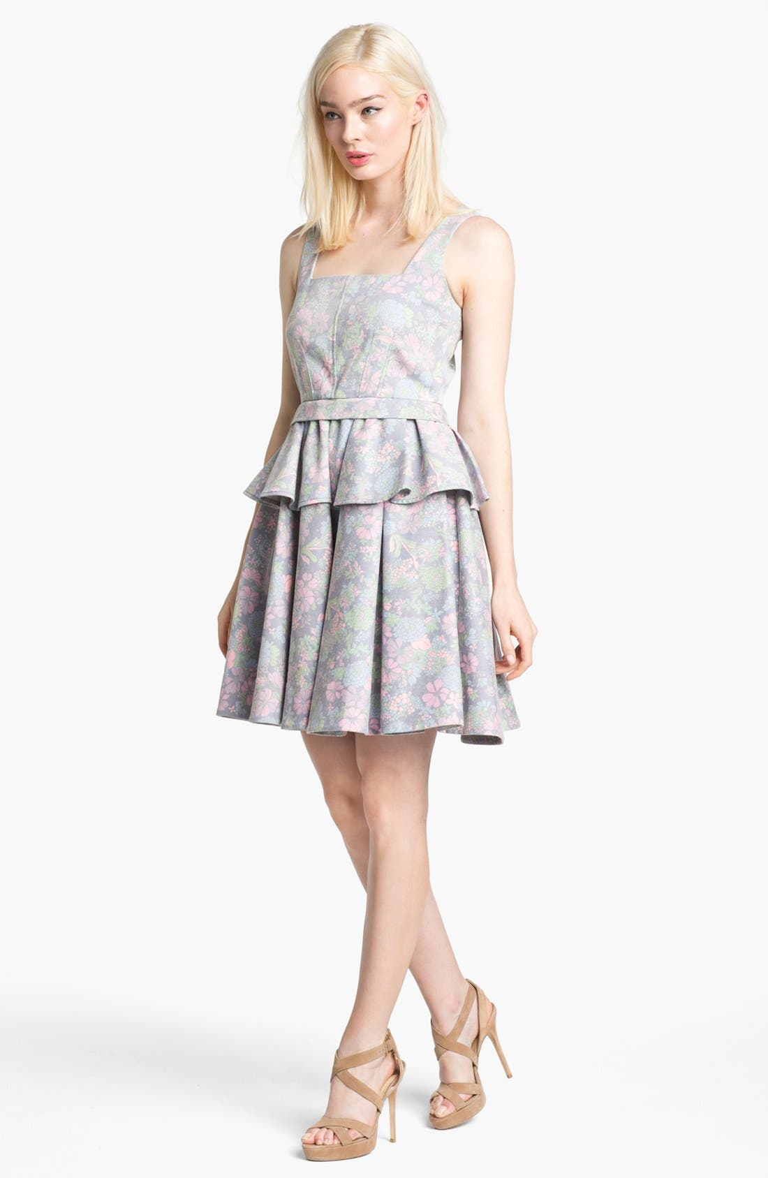 Main Image - MARC BY MARC JACOBS 'Drew Blossom' Stretch Fit & Flare Dress