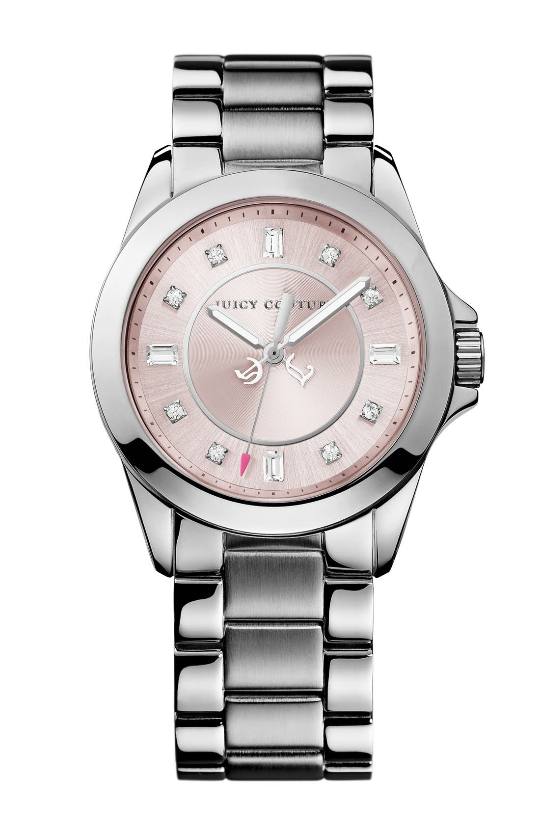 Main Image - Juicy Couture 'Stella' Crystal Marker Bracelet Watch, 36mm