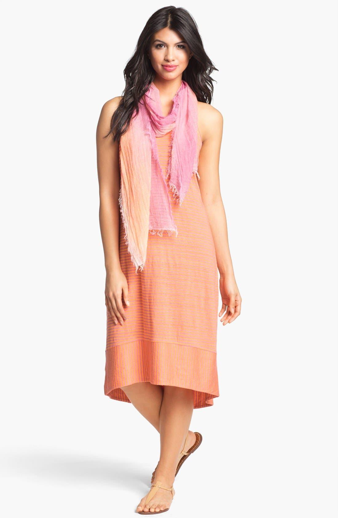 Alternate Image 4  - Eileen Fisher Racerback Linen Jersey Dress