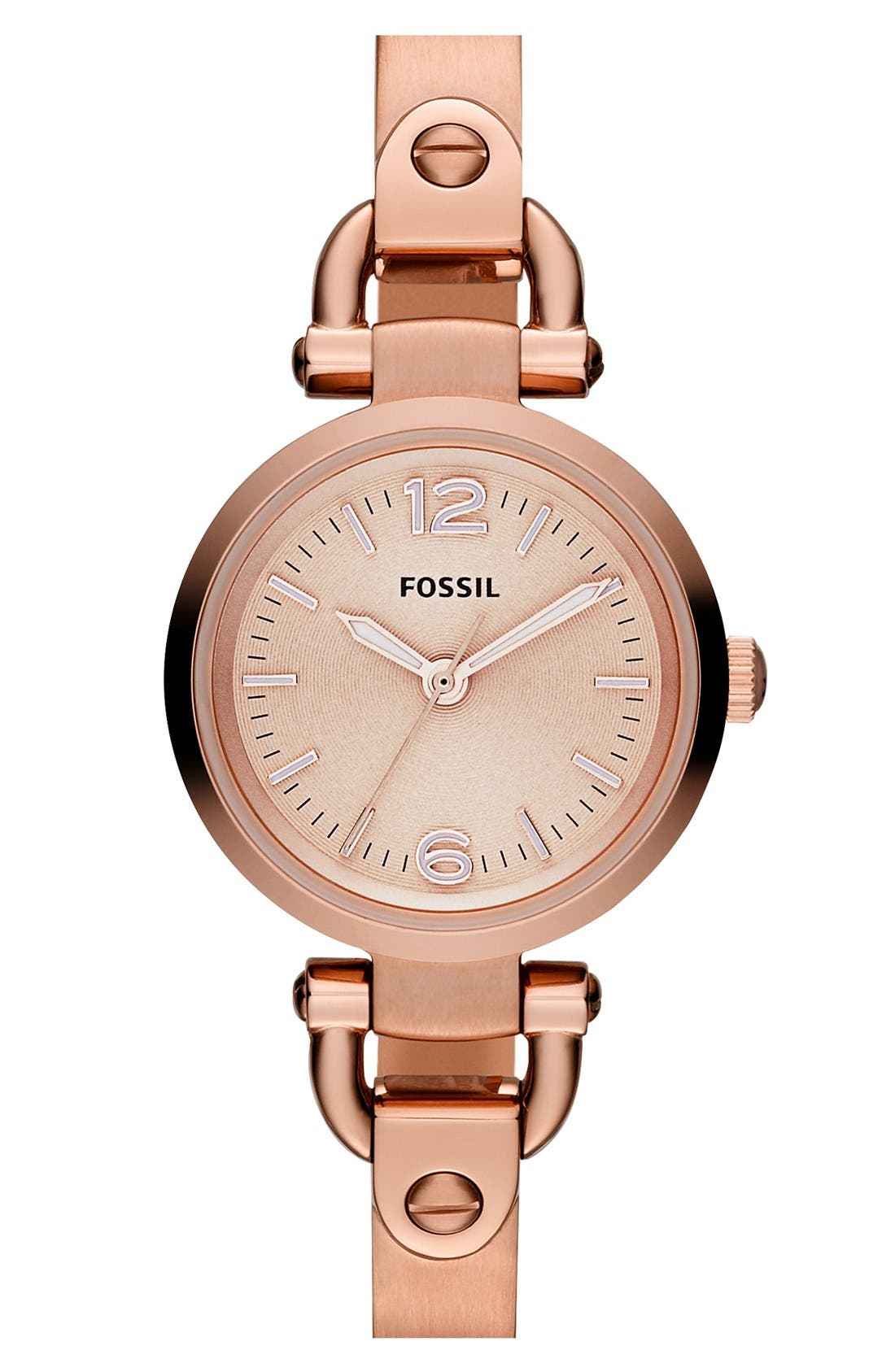 Main Image - Fossil 'Small Georgia' Round Dial Bangle Watch, 26mm