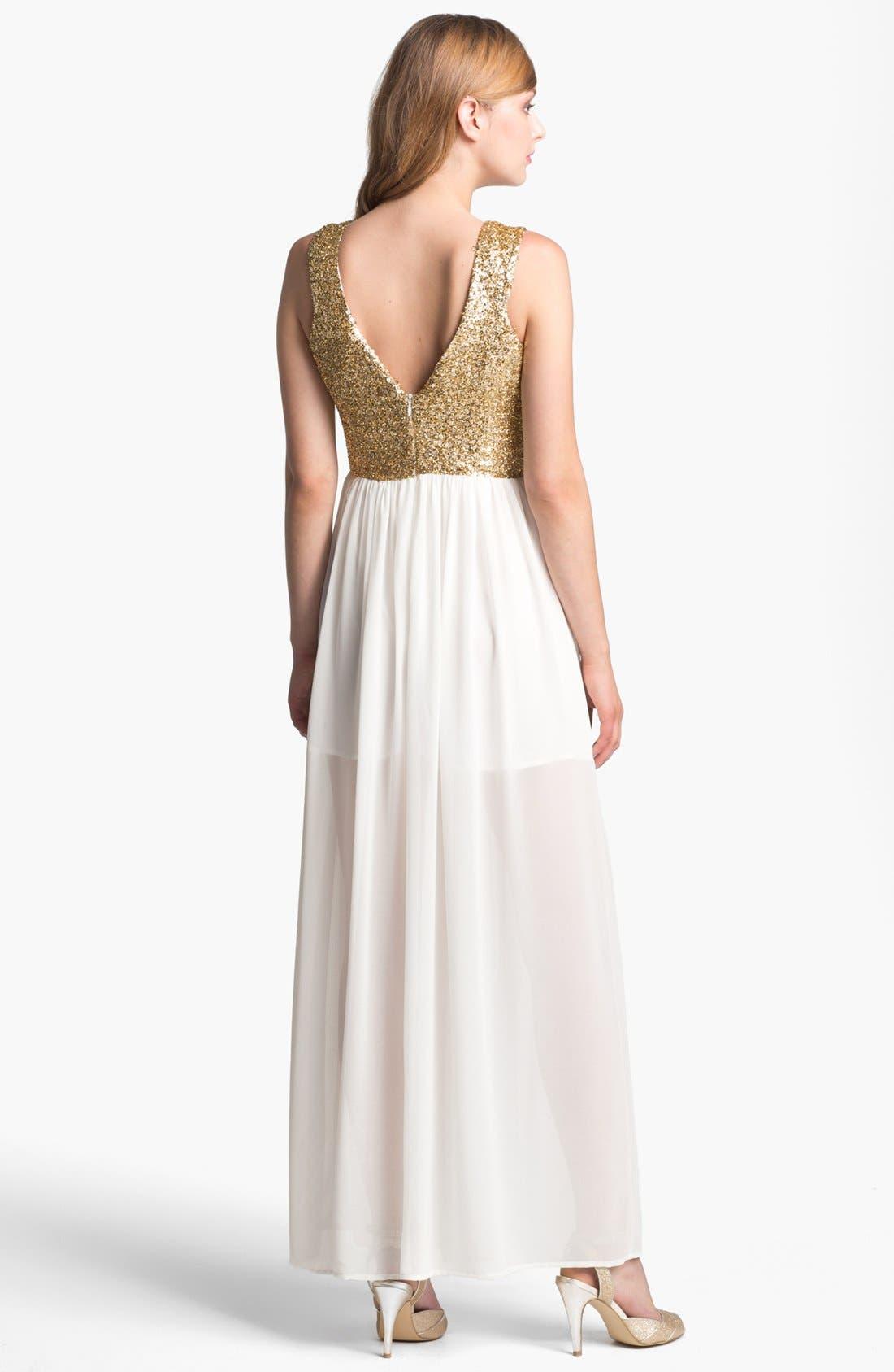 Alternate Image 2  - Keepsake the Label 'Love Run By' Embellished Chiffon Maxi Dress