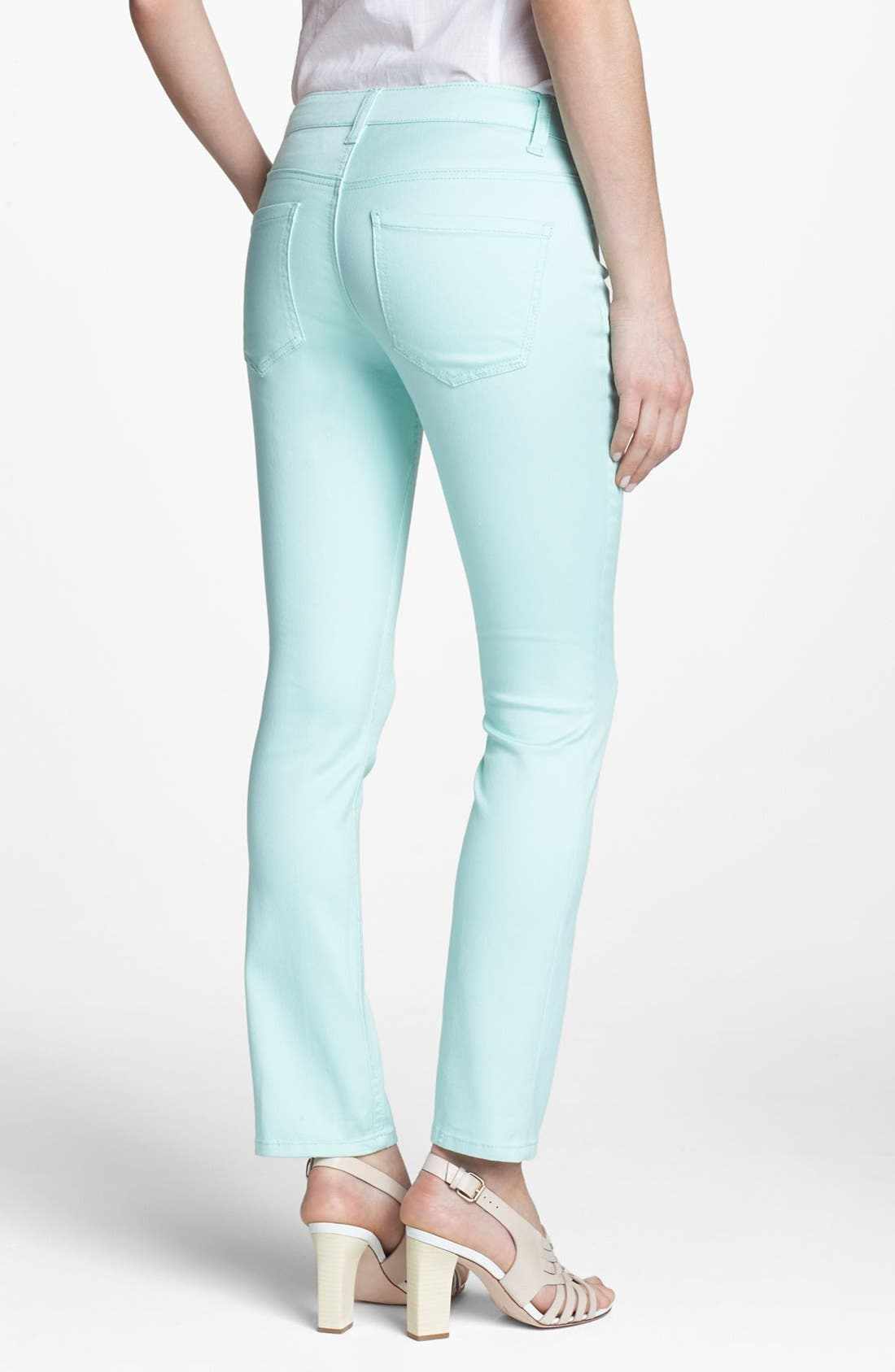 Alternate Image 2  - Liverpool Jeans Company 'Sadie' Colored Straight Leg Stretch Jeans (Petite) (Online Only)