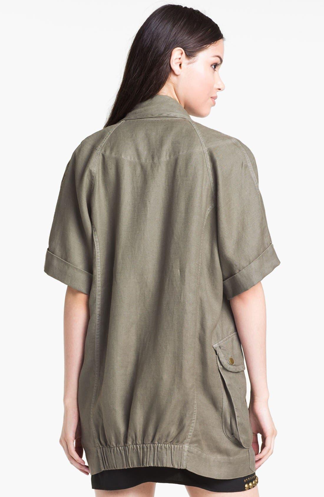 Alternate Image 2  - Willow & Clay Short Sleeve Utility Jacket