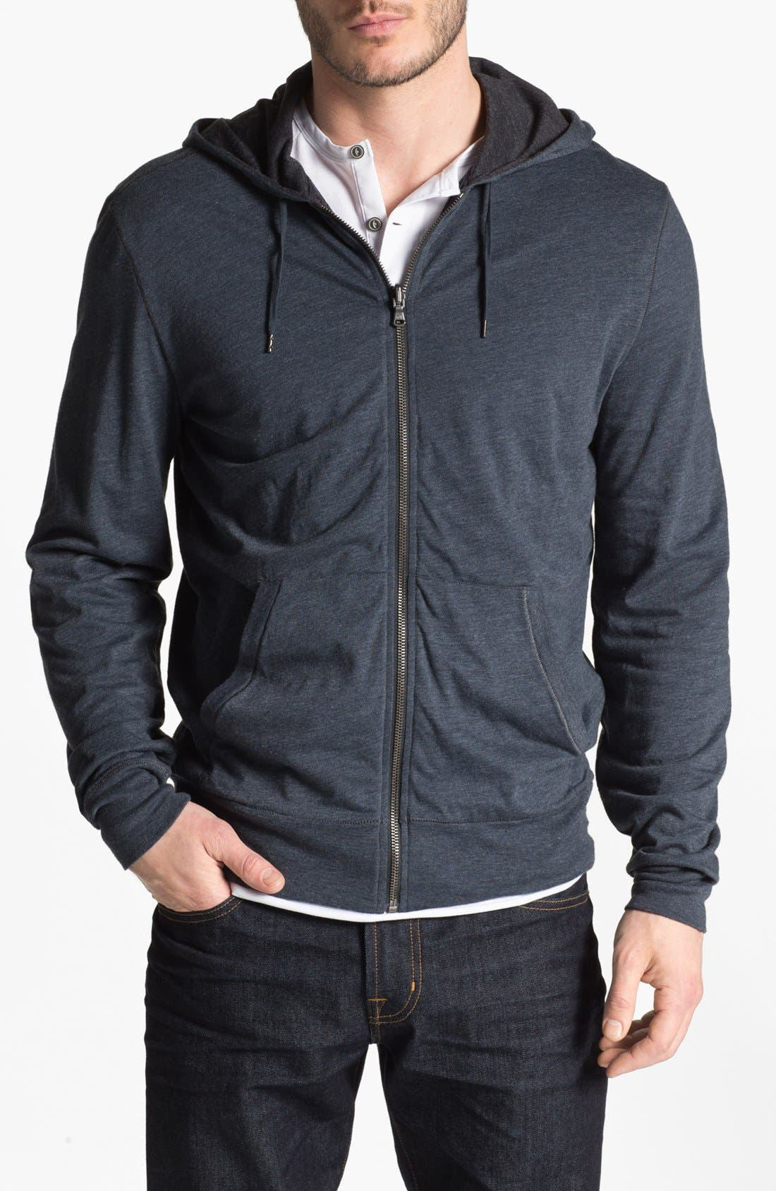 Alternate Image 1 Selected - John Varvatos Star USA Double Layer Full Zip Hoodie