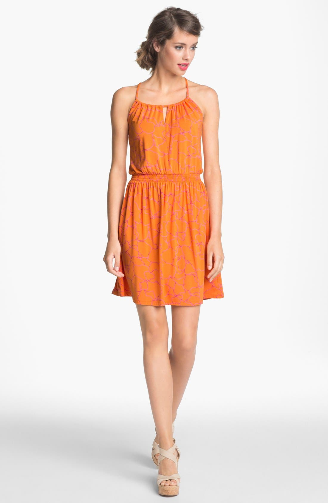 Main Image - Caslon® Crisscross Back Halter Dress