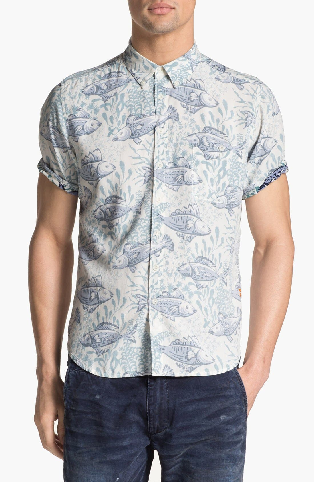 Alternate Image 1 Selected - Reyn Spooner 'Limu Forest' Print Rayon Shirt
