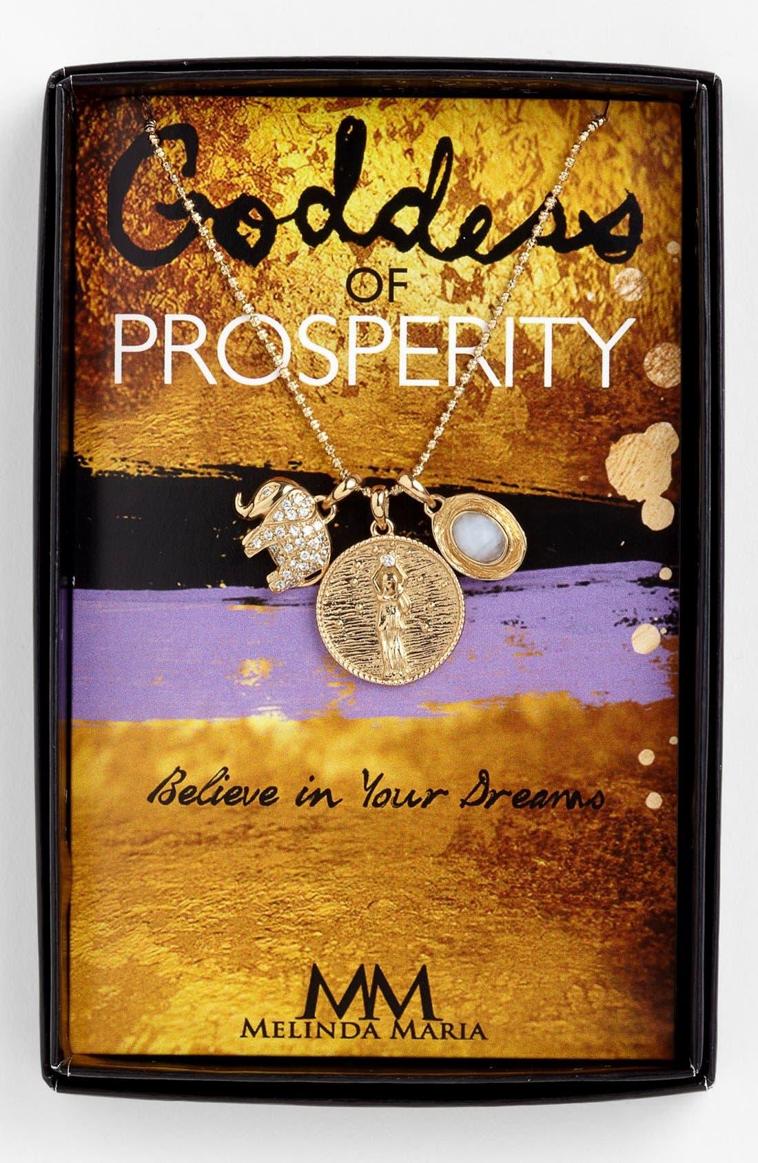 Alternate Image 1 Selected - Melinda Maria 'Goddess of Prosperity' Cluster Pendant Necklace