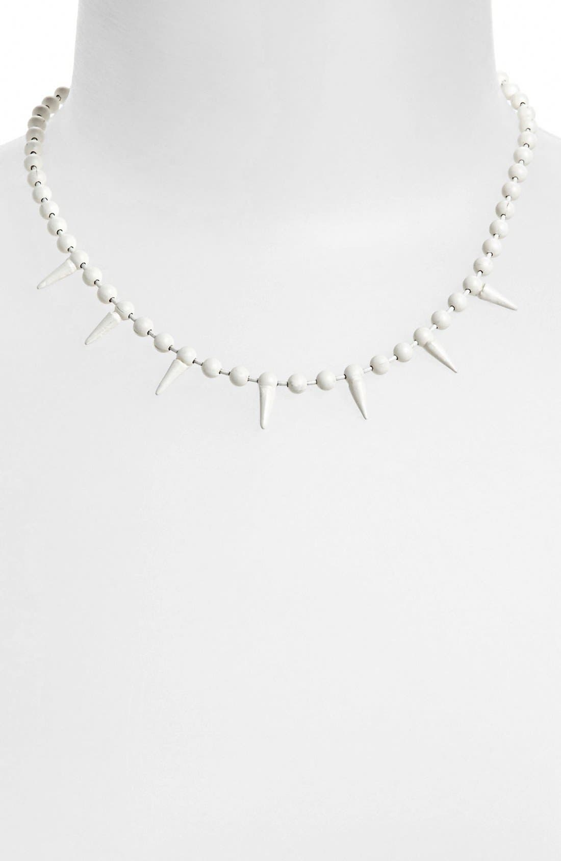Alternate Image 1 Selected - Topshop 'Mini Spike' Necklace