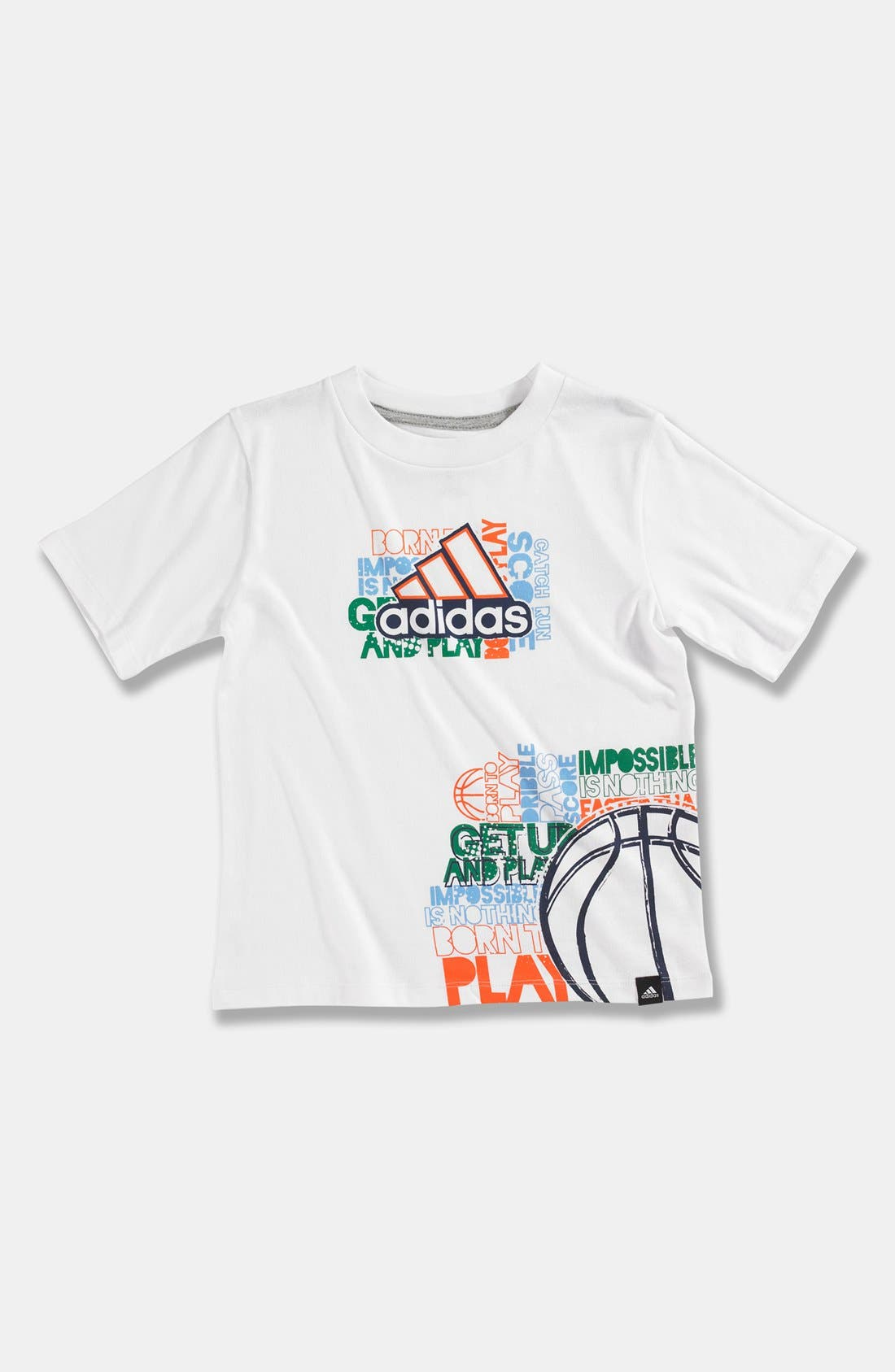 Main Image - adidas 'Crossword Wrap' T-Shirt (Little Boys)